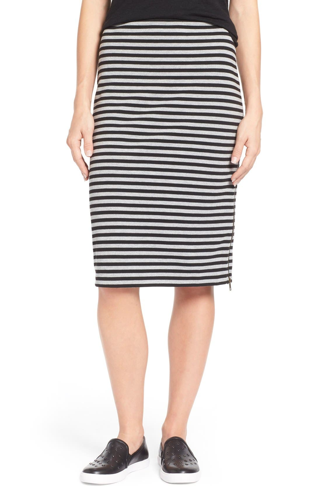 CASLON<SUP>®</SUP> Zip Detail Tube Skirt, Main, color, 001