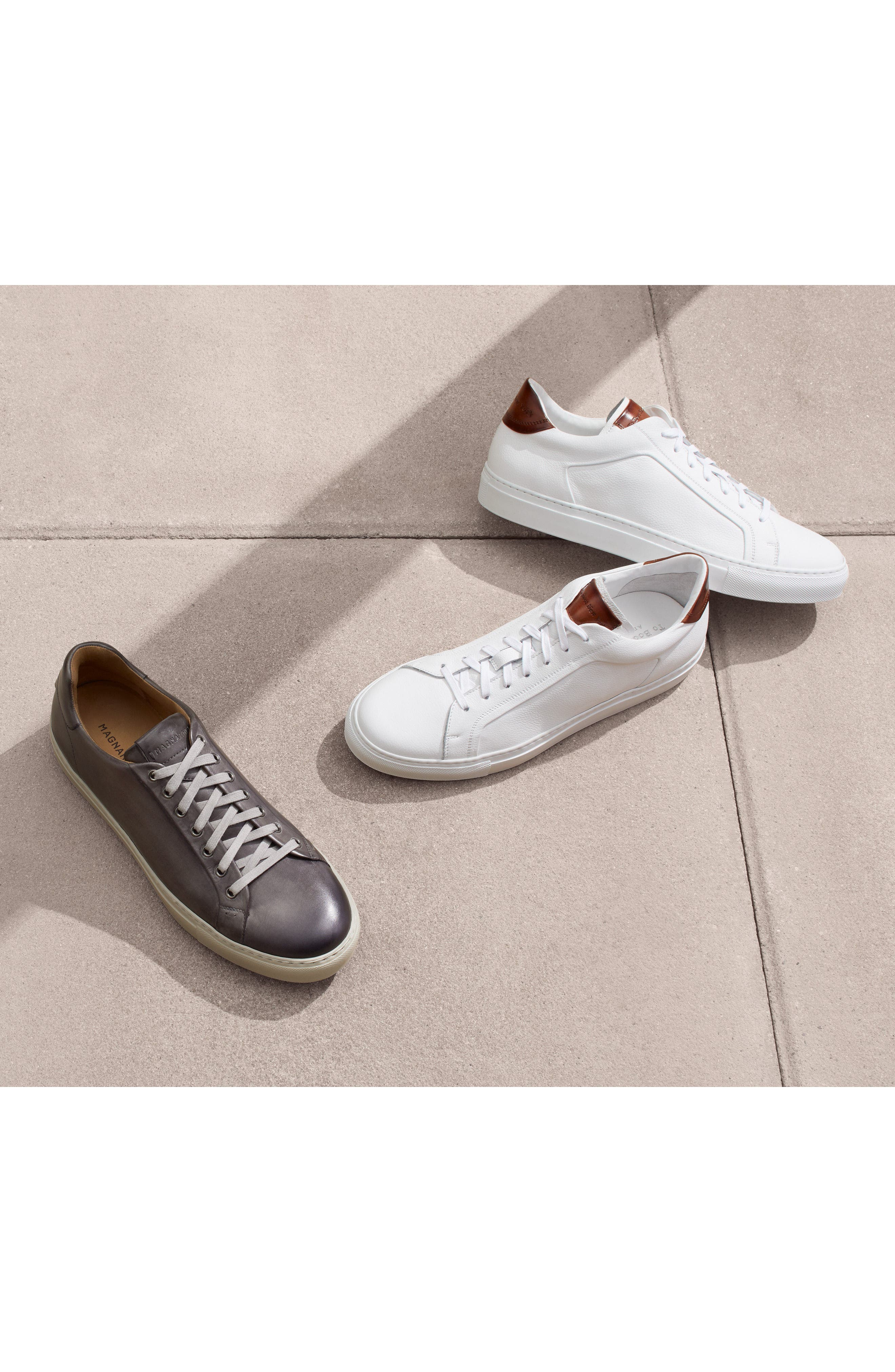 TO BOOT NEW YORK, Carlin Sneaker, Alternate thumbnail 7, color, WHITE/ TAN LEATHER