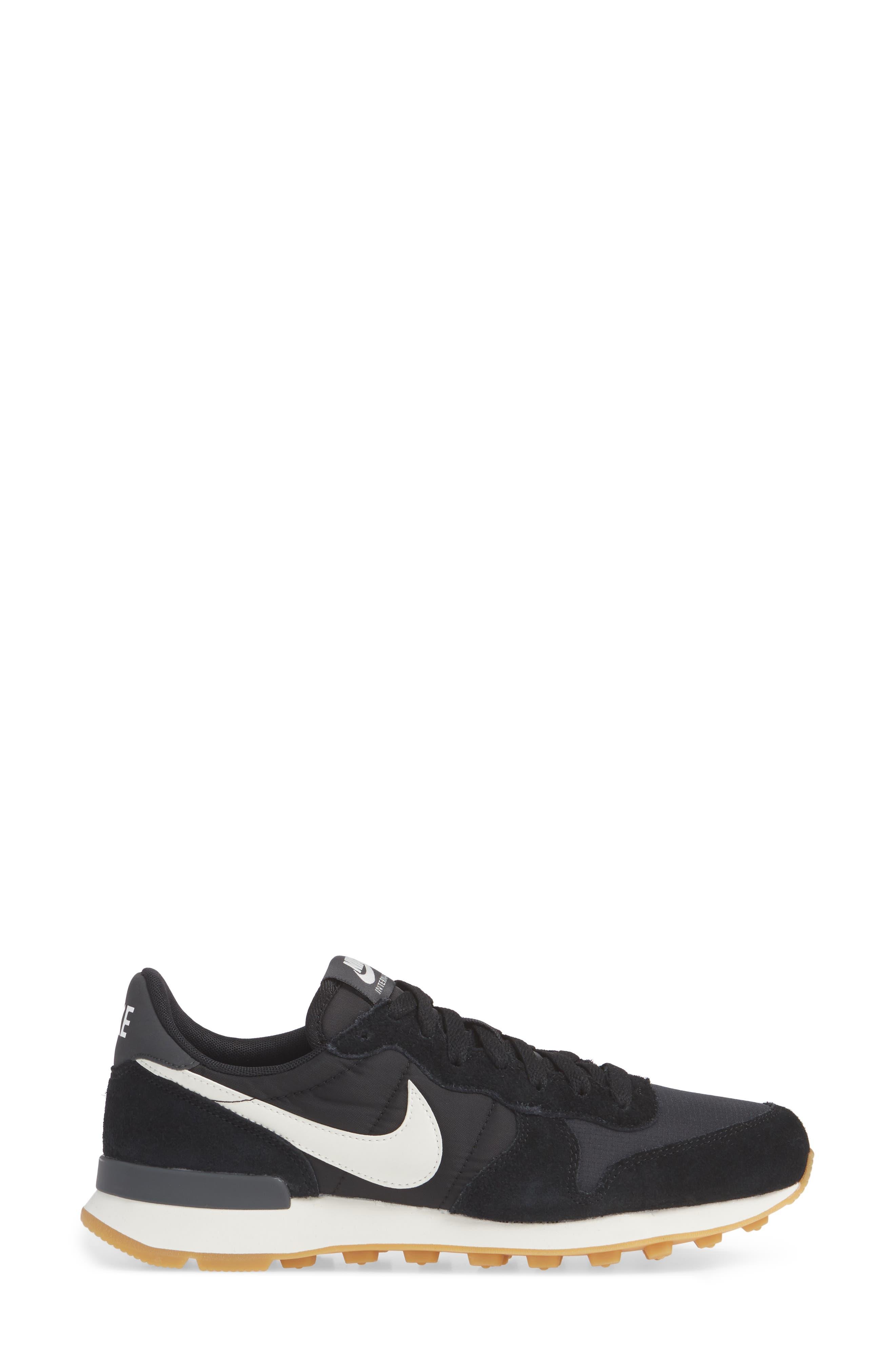 NIKE, 'Internationalist' Sneaker, Alternate thumbnail 3, color, 001