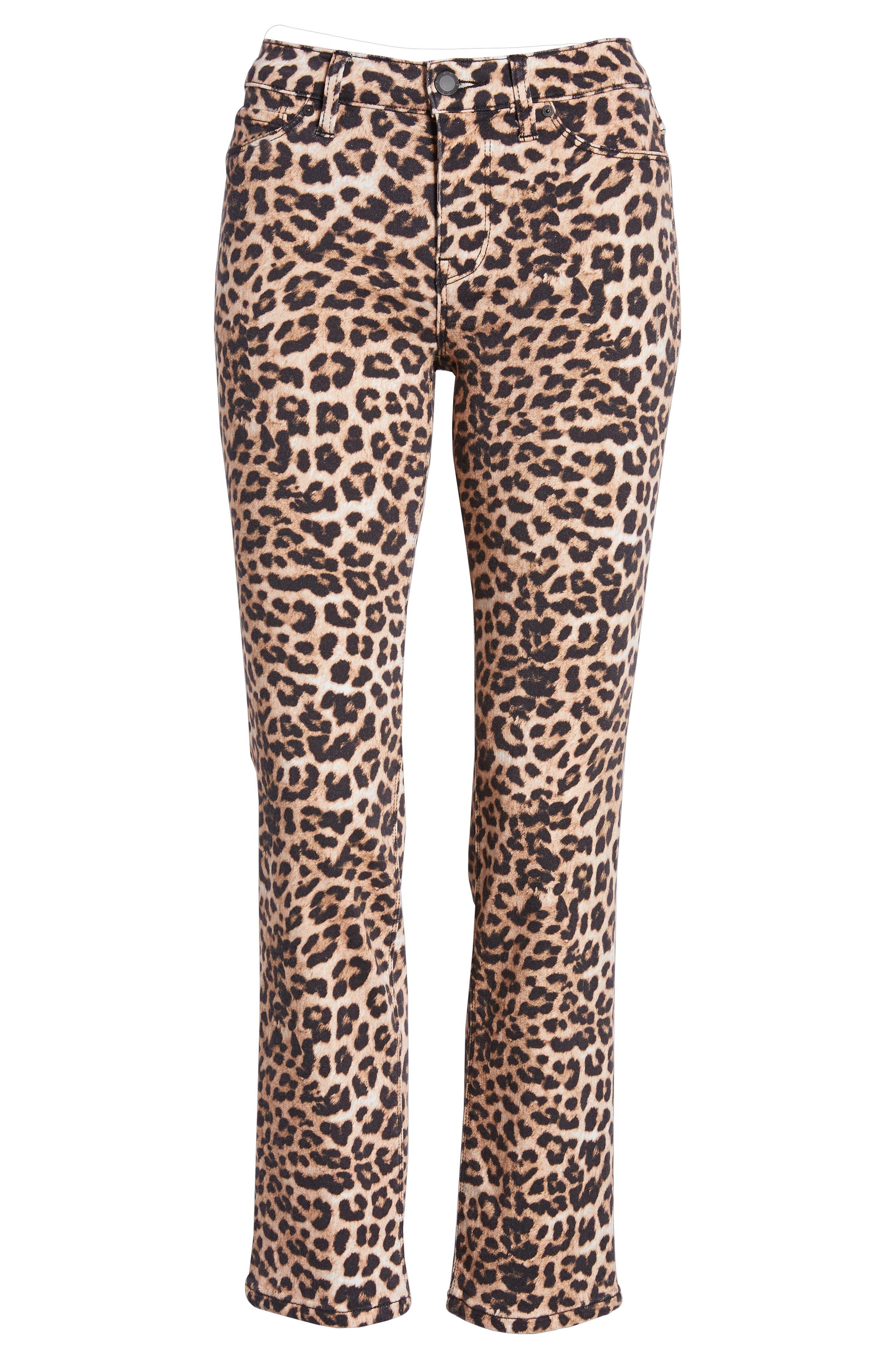 HUDSON JEANS, Hudson Ankle Straight Leg Jeans, Alternate thumbnail 8, color, CLASSIC LEOPARD