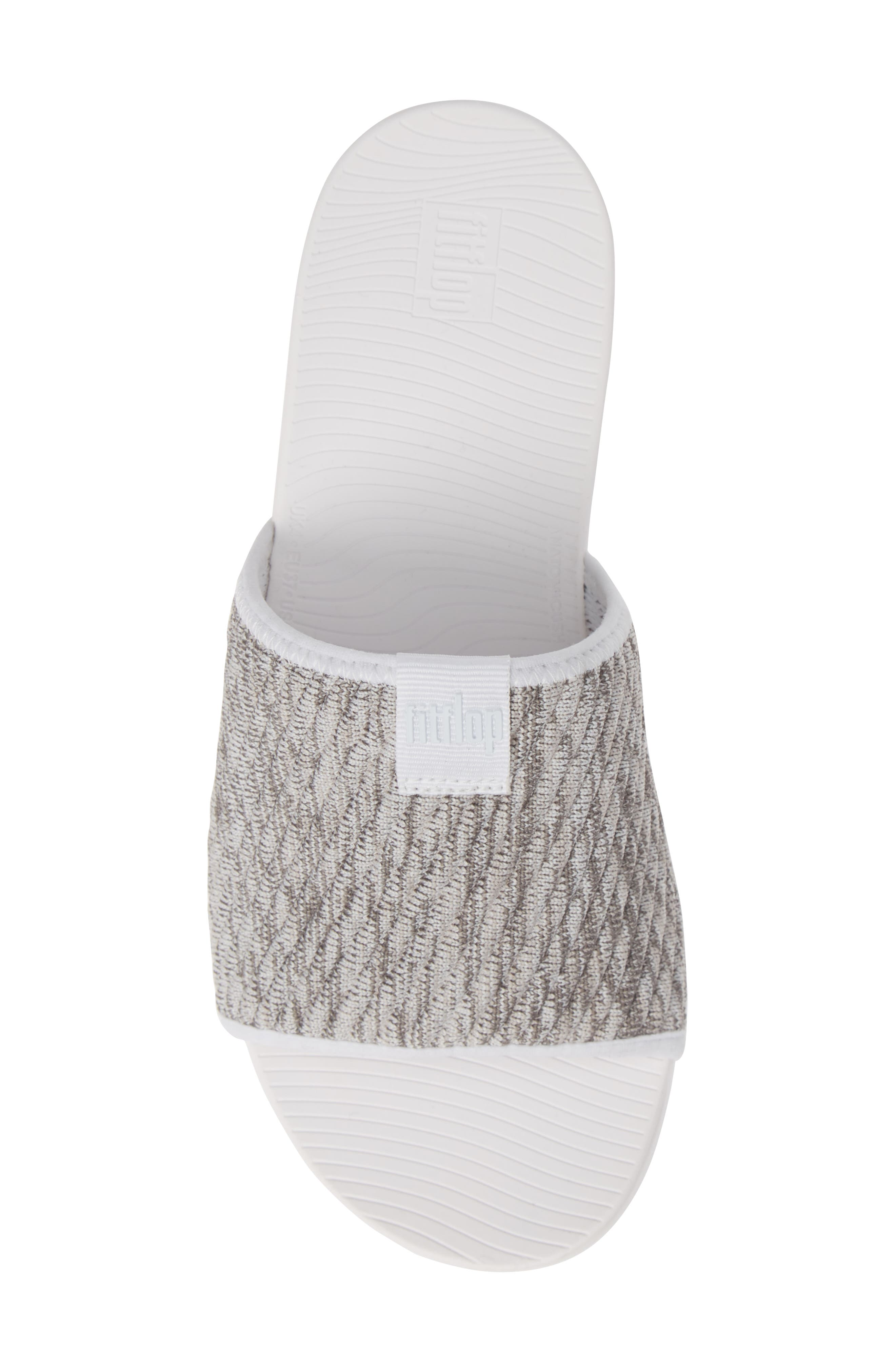 FITFLOP, Artknit Slide Sandal, Alternate thumbnail 5, color, URBAN WHITE MIX FABRIC