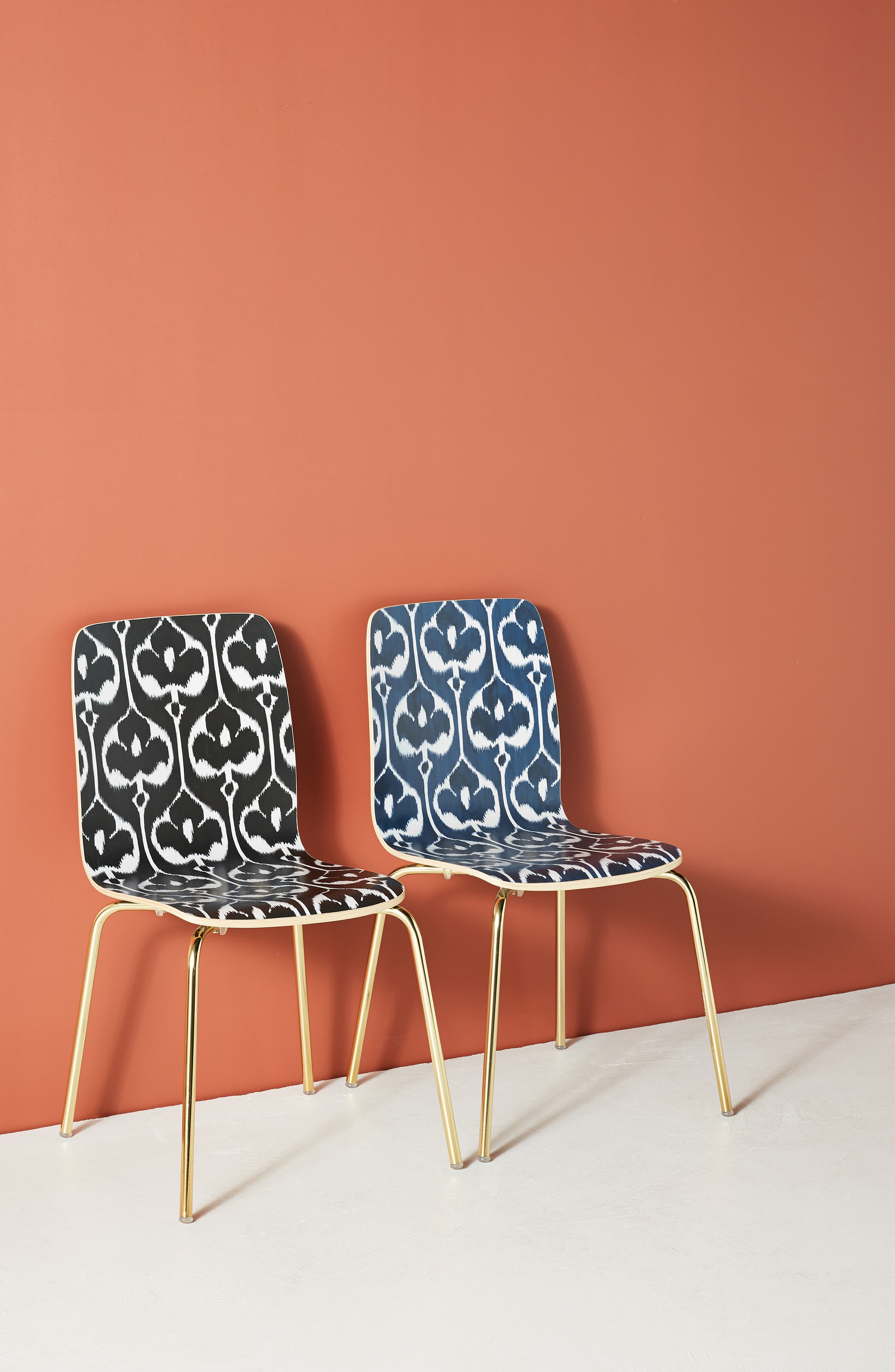 ANTHROPOLOGIE Ikat Tamsin Dining Chair, Main, color, BLACK AND WHITE