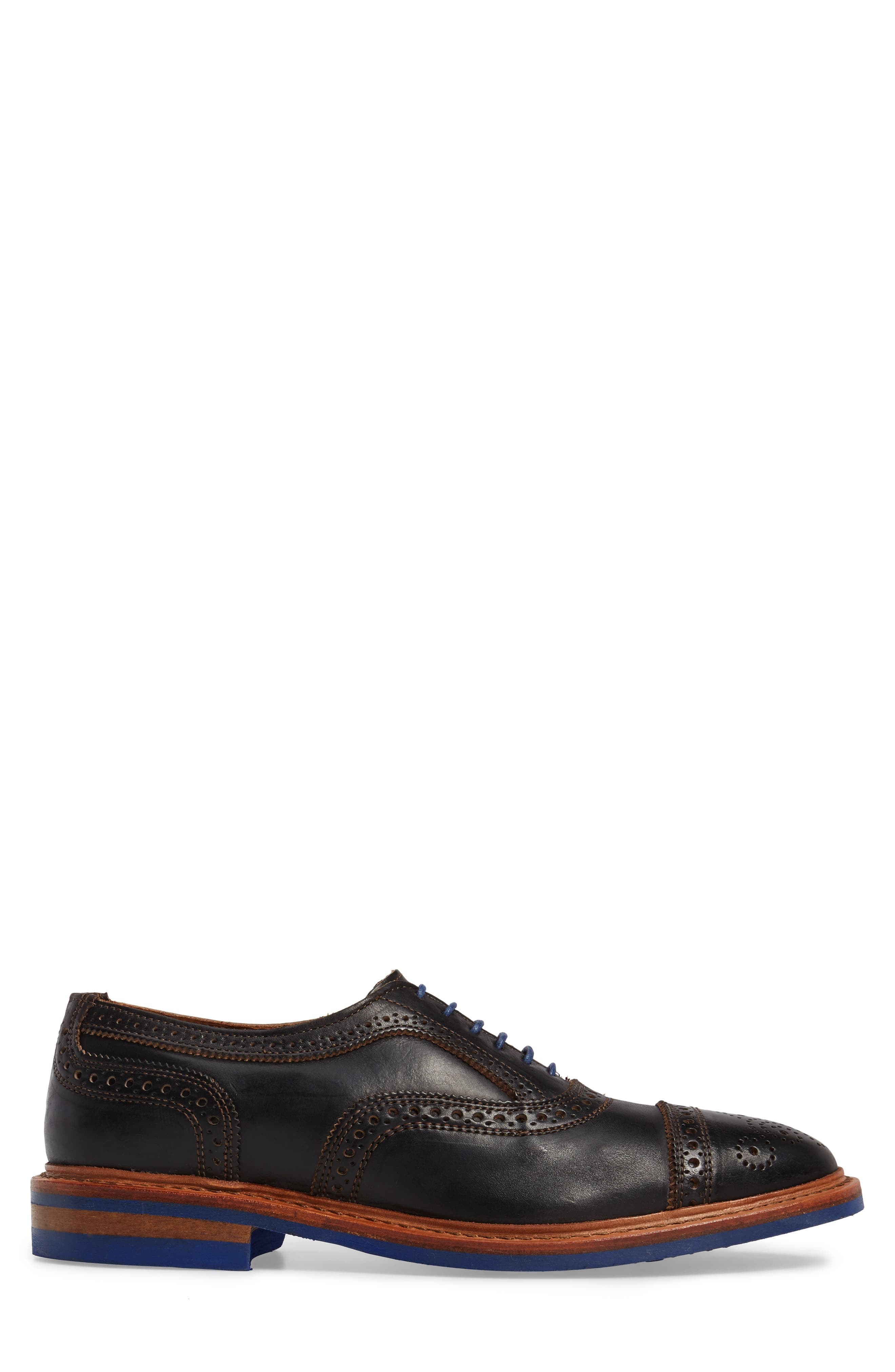 ALLEN EDMONDS, 'Strandmok' Cap Toe Oxford, Alternate thumbnail 3, color, BLACK LEATHER