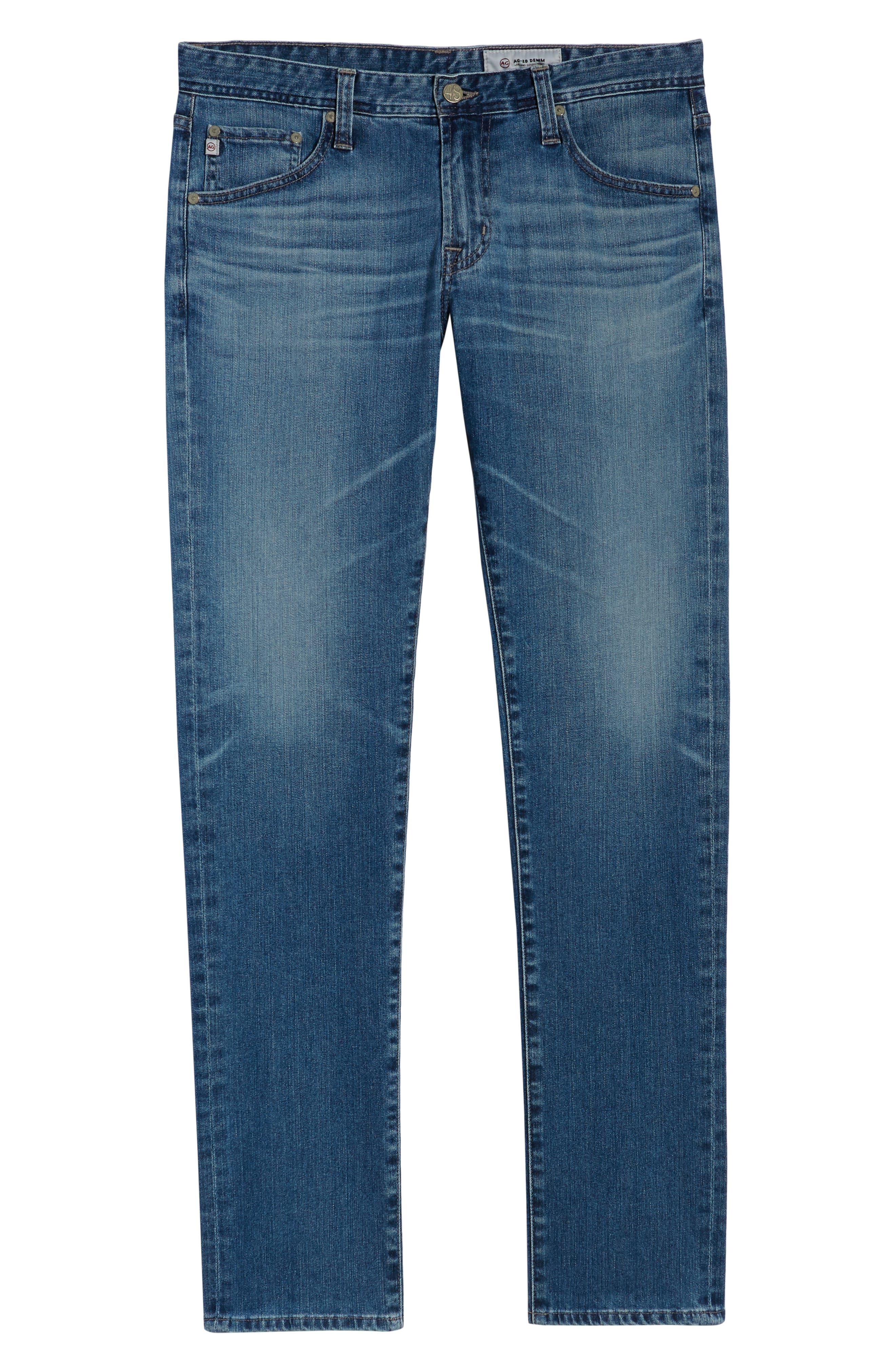 AG, Tellis Slim Fit Jeans, Alternate thumbnail 7, color, 16 YEARS EAVES