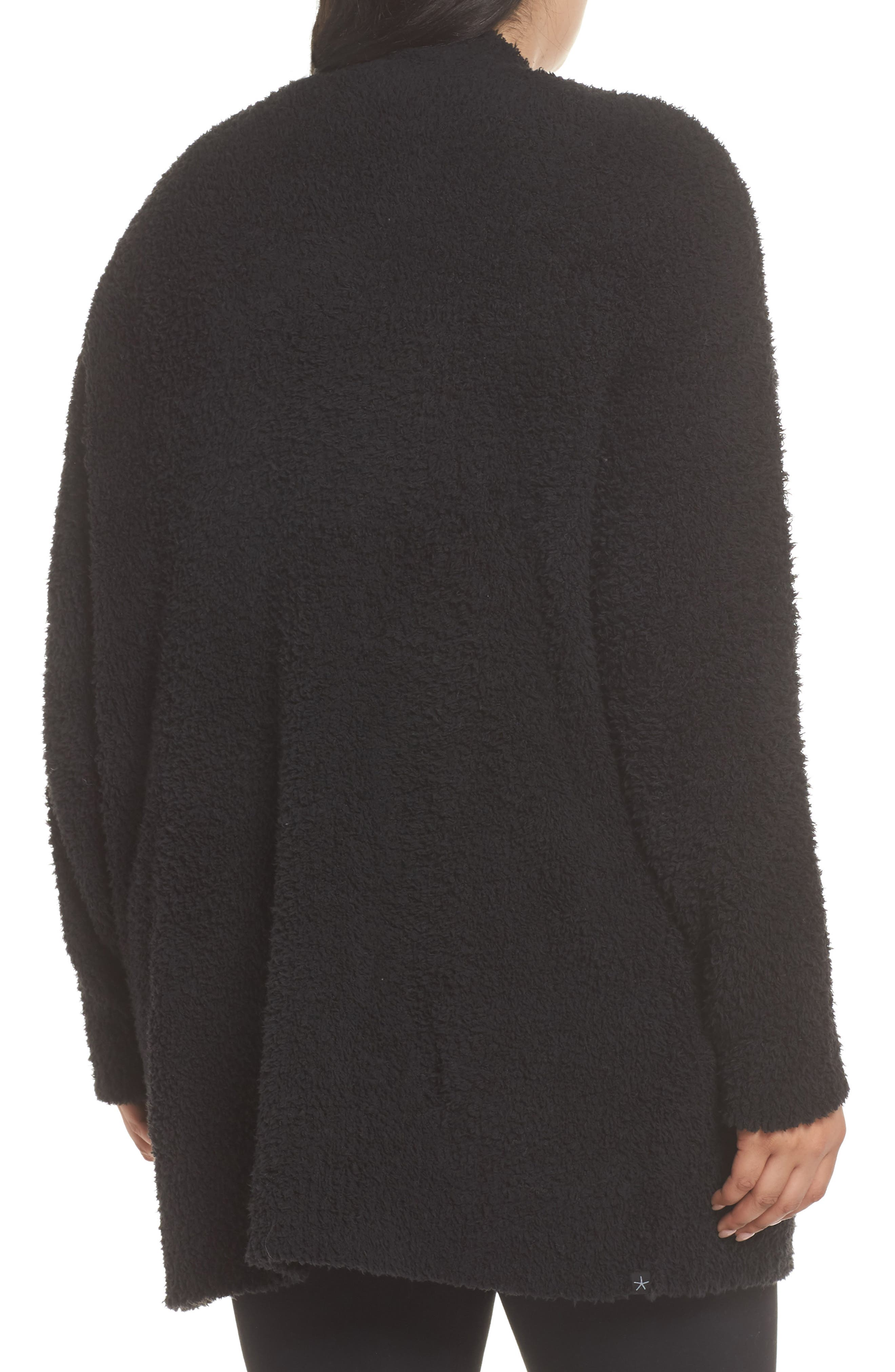 BAREFOOT DREAMS<SUP>®</SUP>, CozyChic<sup>®</sup> Cardigan, Alternate thumbnail 2, color, BLACK