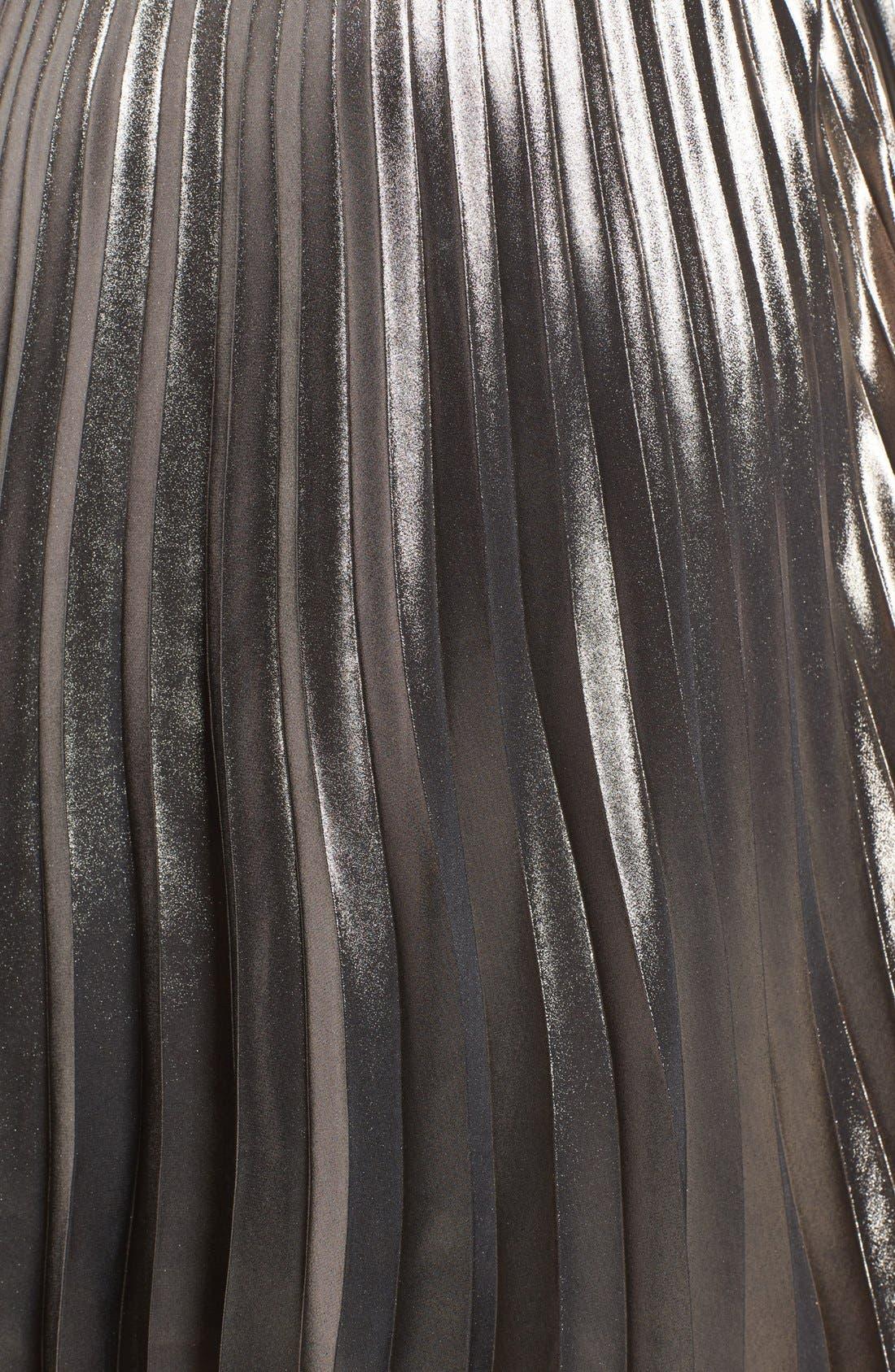 ASTR THE LABEL, ASTR Celeste Pleated Skirt, Alternate thumbnail 6, color, 224