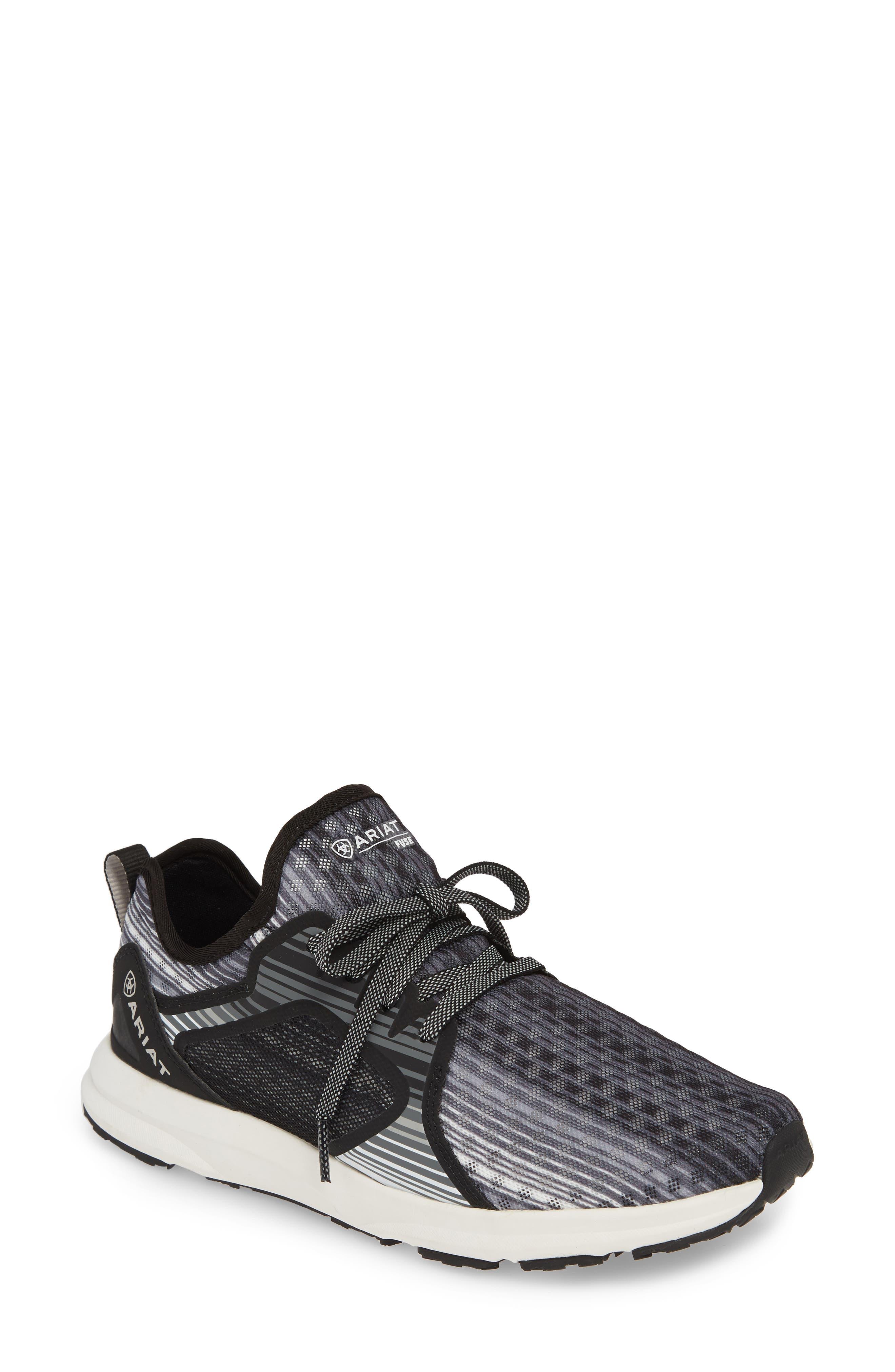 ARIAT Fuse Print Sneaker, Main, color, GREY STRIPE