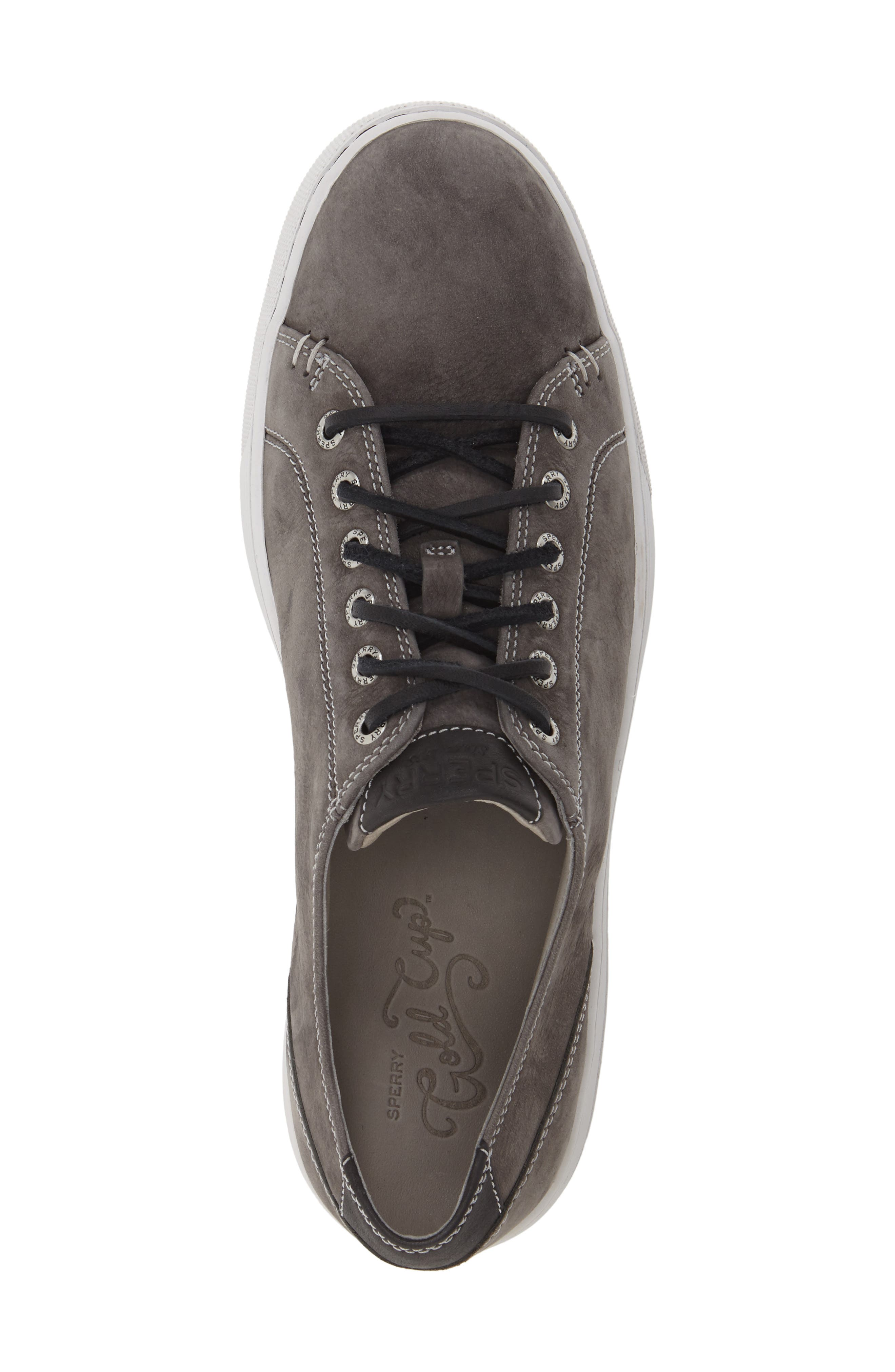 SPERRY, Gold Cup LLT Sneaker, Alternate thumbnail 5, color, GREY SUEDE