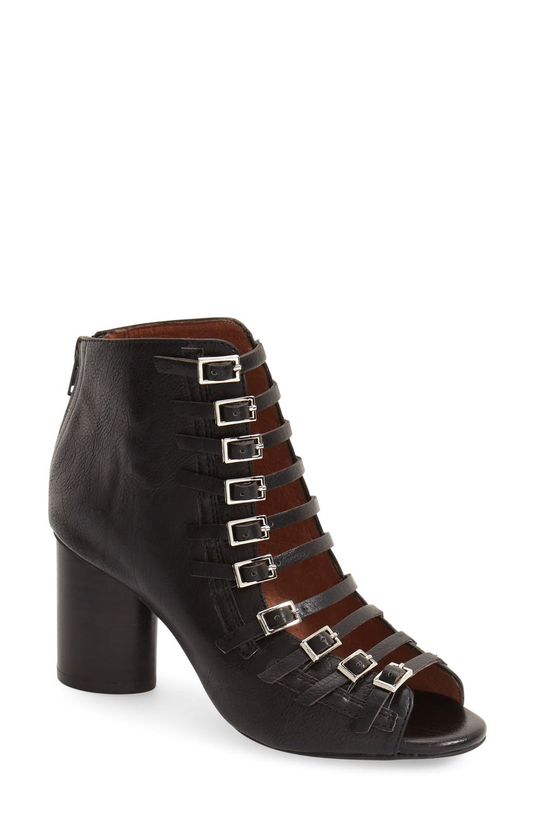 JEFFREY CAMPBELL 'Houdini II' Cage Sandal, Main, color, 001