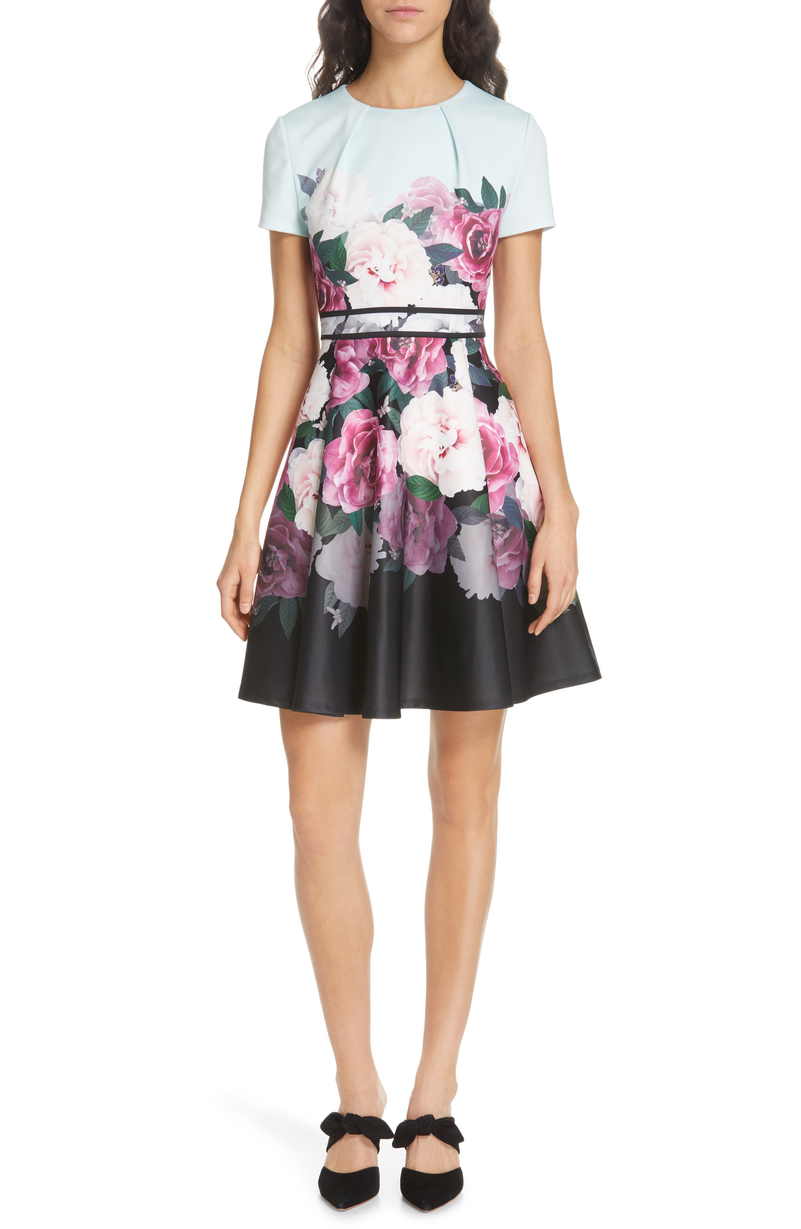 Ted Baker London Wilmana Magnificent Skater Dress, Green