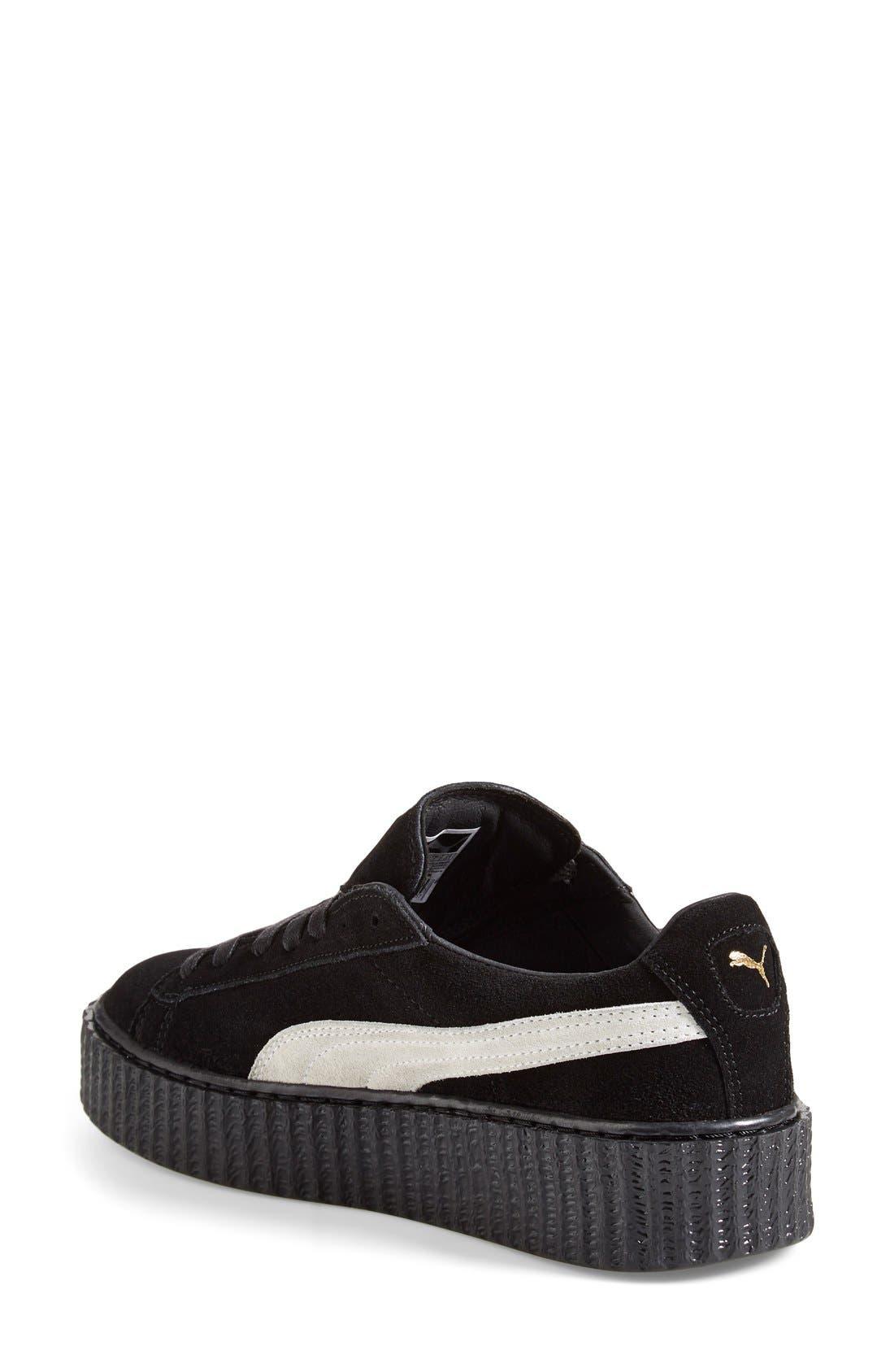 PUMA, FENTY PUMA by Rihanna Creeper Sneaker, Alternate thumbnail 5, color, 001