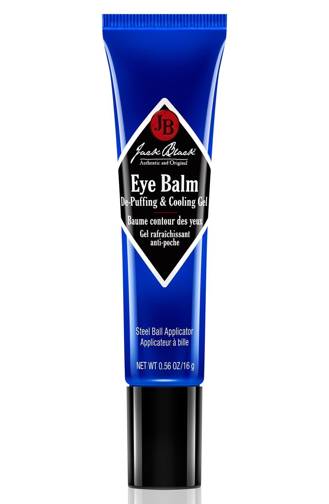 JACK BLACK, Eye Balm De-Puffing & Cooling Gel, Main thumbnail 1, color, NO COLOR