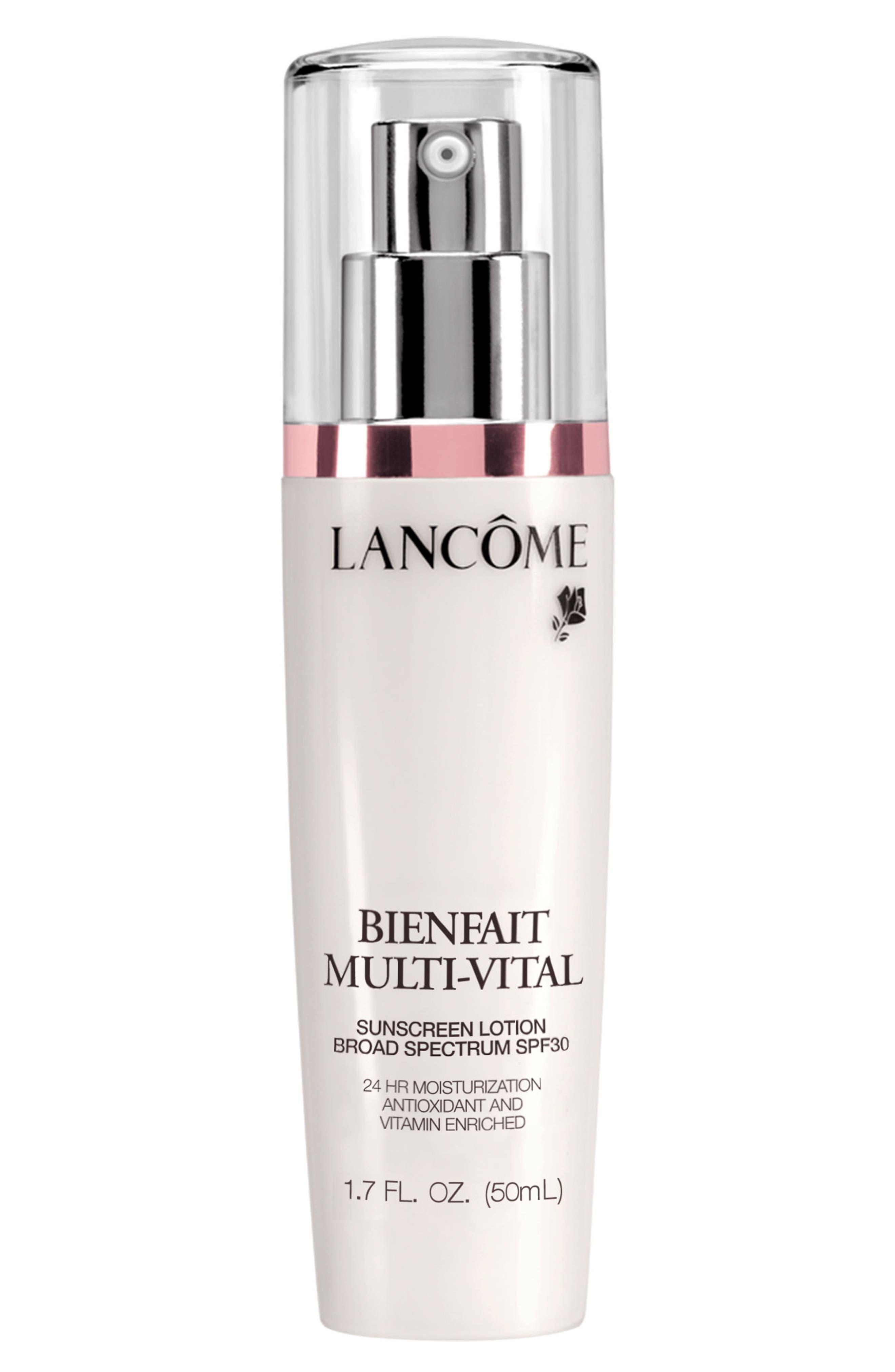 LANCÔME 'Bienfait Multi-Vital' SPF 30 Sunscreen, Main, color, NO COLOR