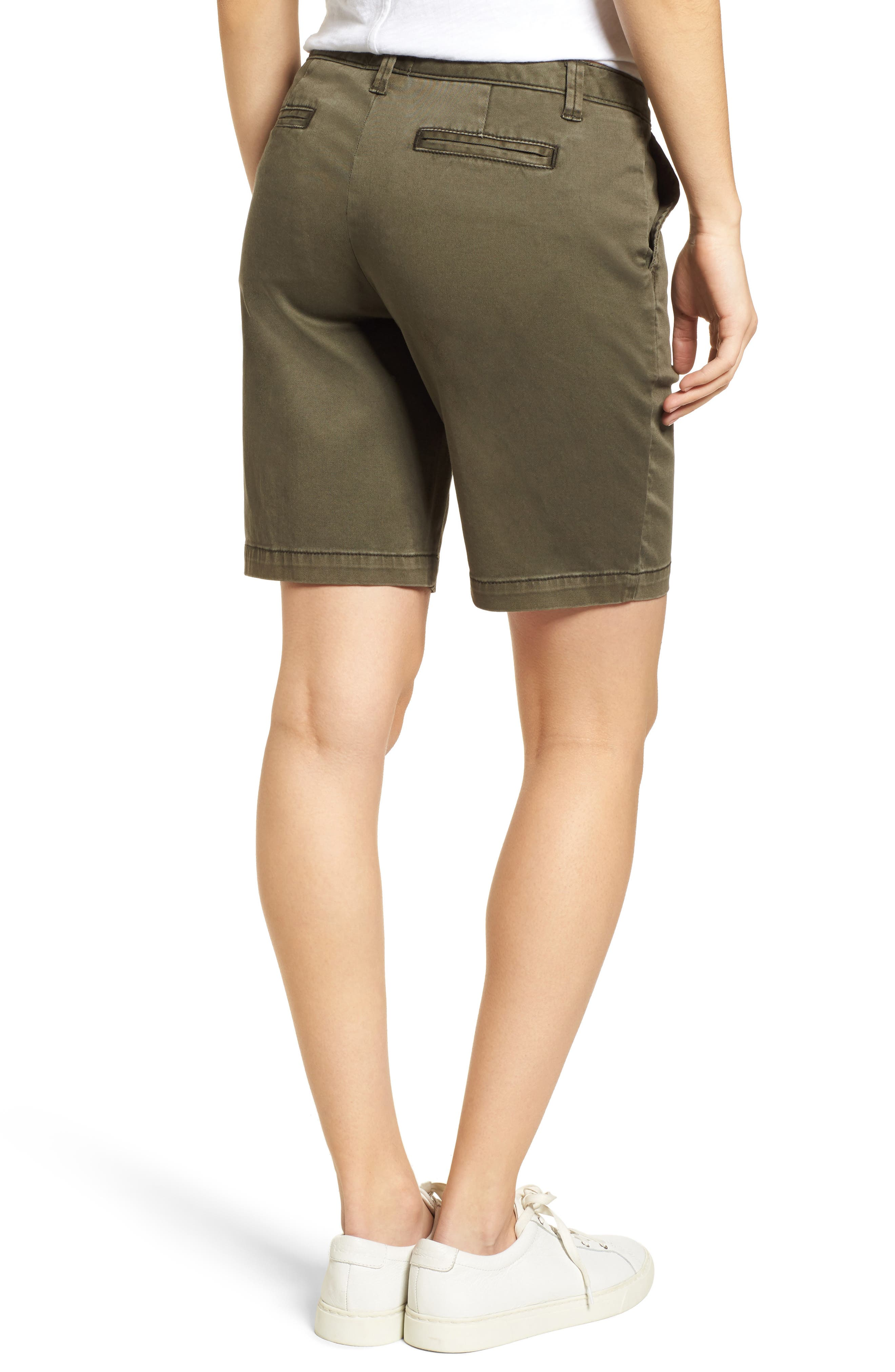 CASLON<SUP>®</SUP>, Twill Shorts, Alternate thumbnail 2, color, OLIVE SARMA