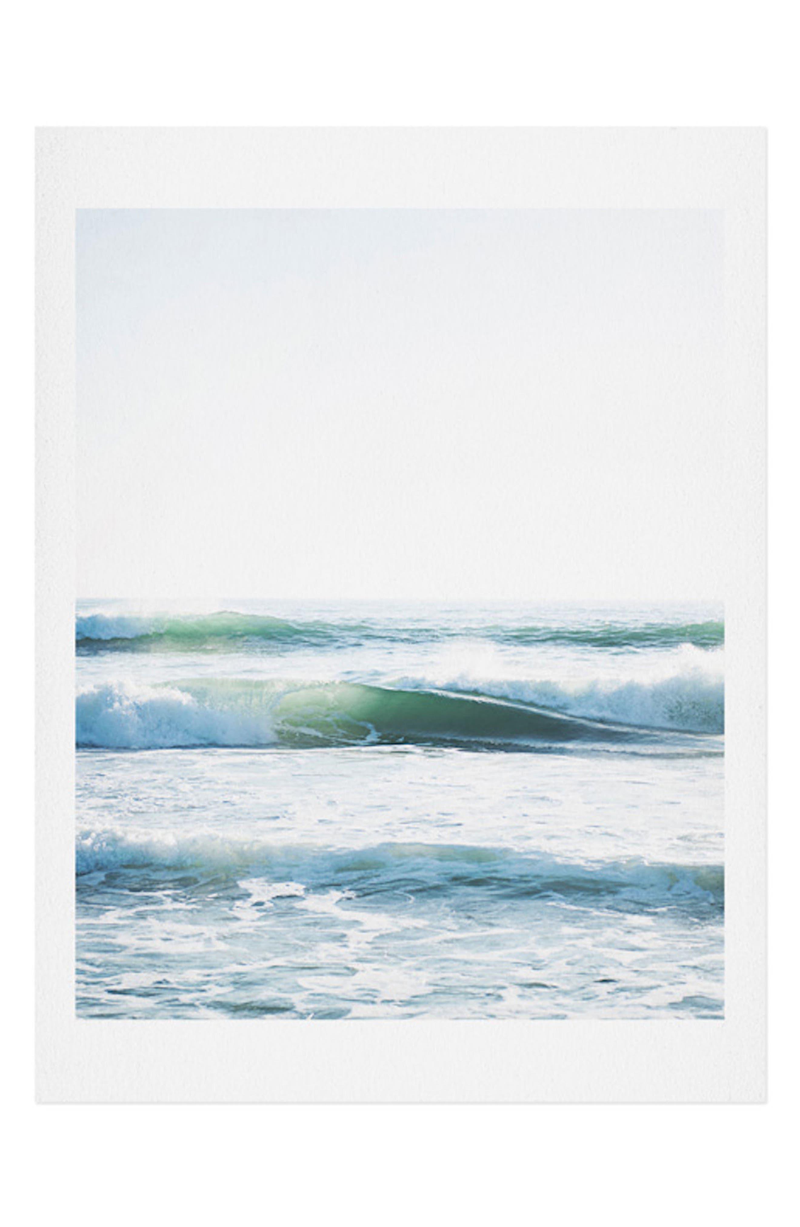 DENY DESIGNS Bree Madden - Ride Waves Art Print, Main, color, BLUE