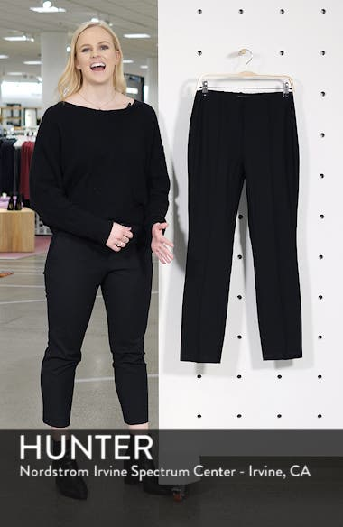 High Waist Slim Ankle Pants, sales video thumbnail