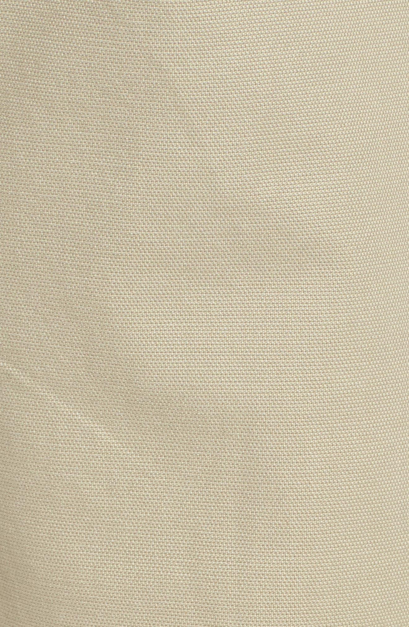 PETER MILLAR, Crown Vintage Canvas Pants, Alternate thumbnail 6, color, KHAKI