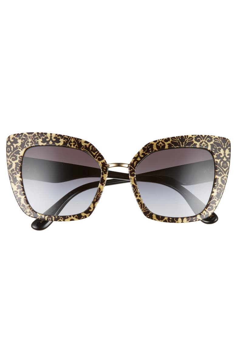 Buy Dolce and Gabbana Metallic Gold Glitter and Black