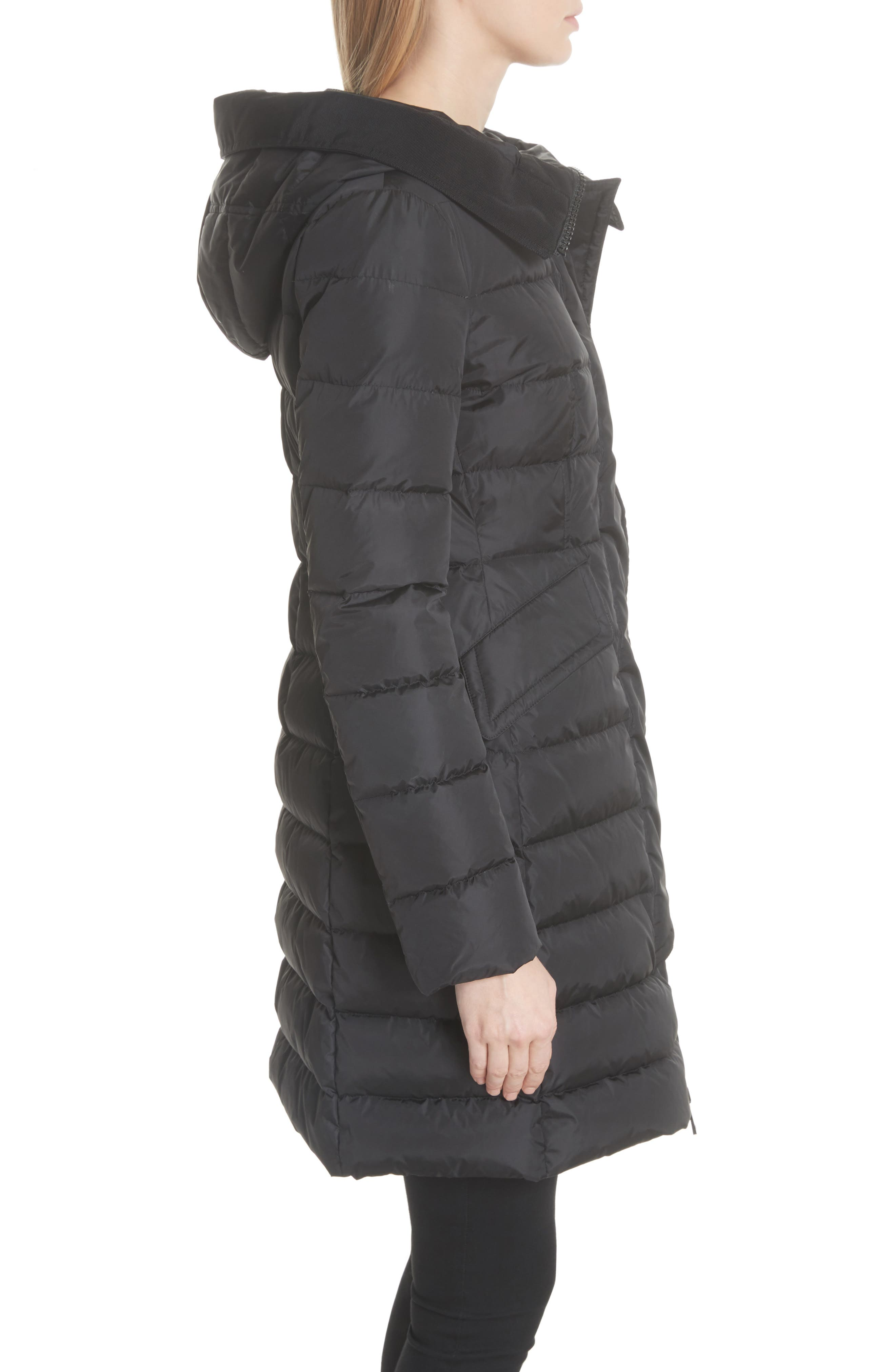 MONCLER, Grive Hooded Down Coat, Alternate thumbnail 3, color, NAVY