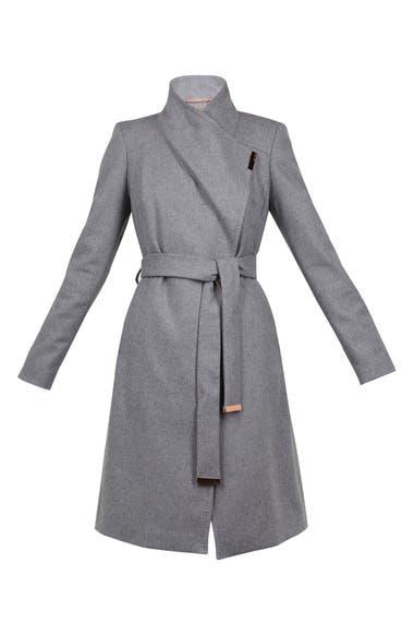 8c4683794 Ted Baker London Wool Blend Long Wrap Coat