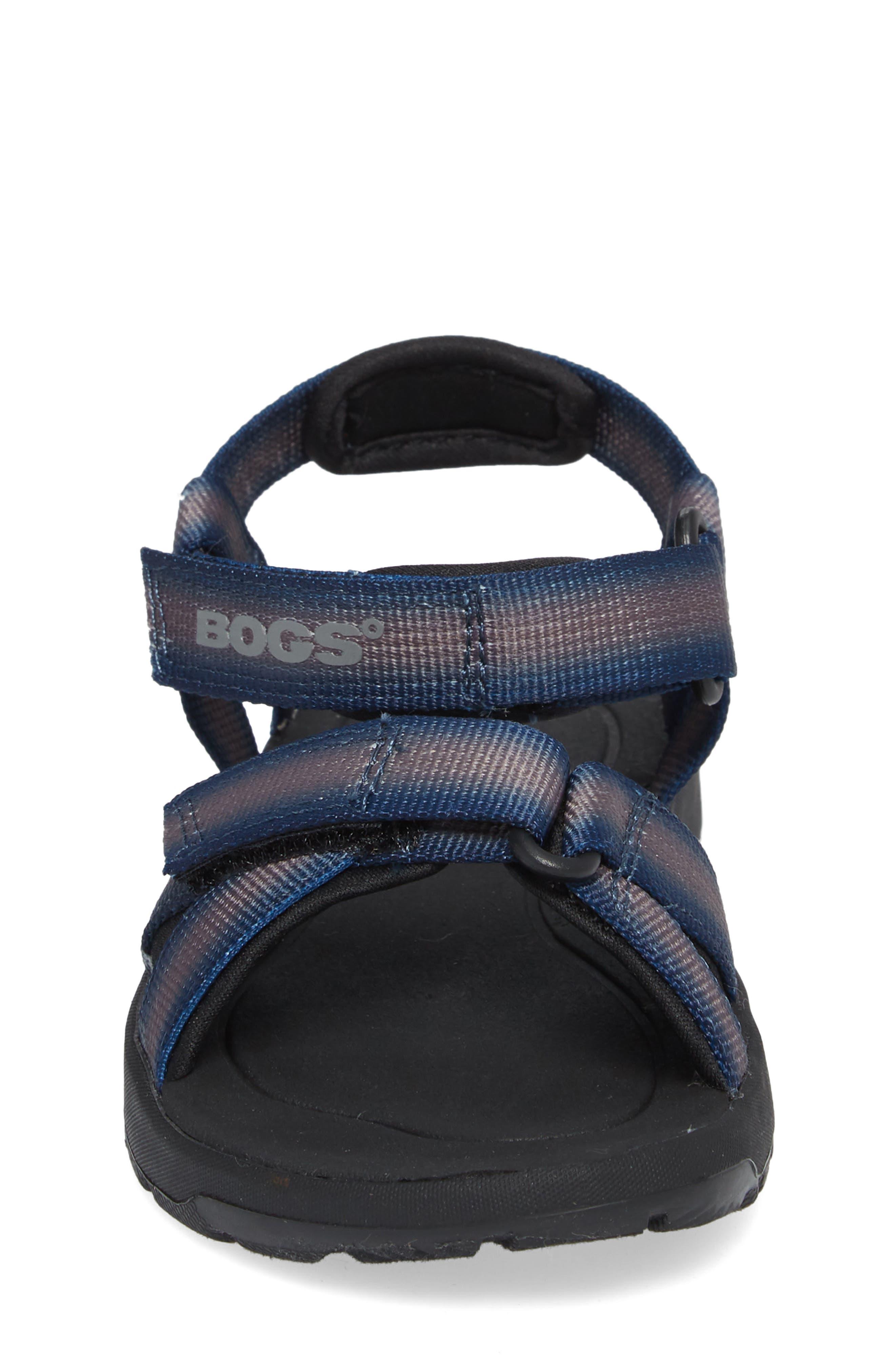 BOGS, Rio Sunrise Stripe Sandal, Alternate thumbnail 4, color, 062