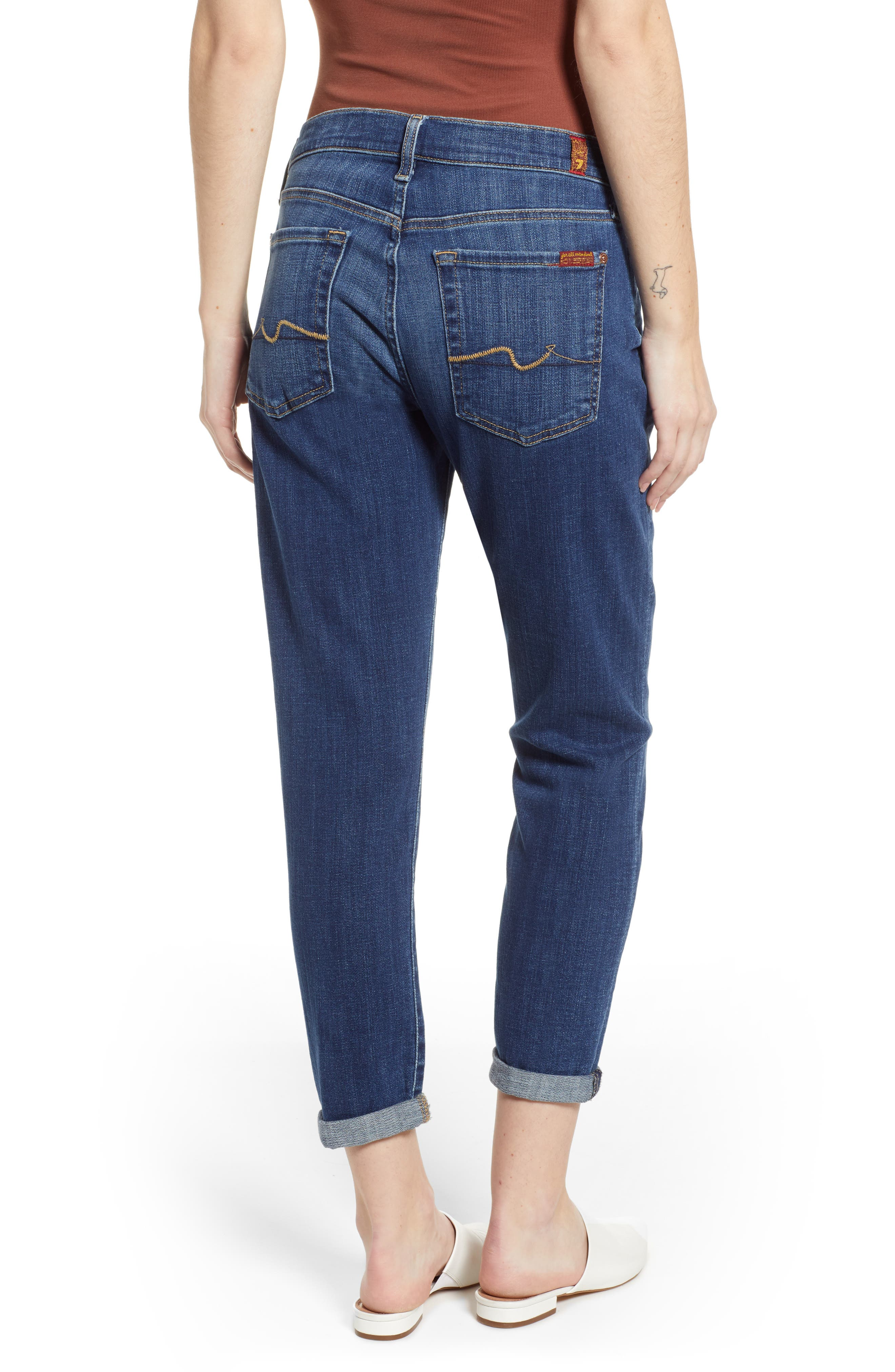 7 FOR ALL MANKIND<SUP>®</SUP>, Josefina Ankle Boyfriend Jeans, Alternate thumbnail 2, color, BROKEN TWILL VANITY CLEAN