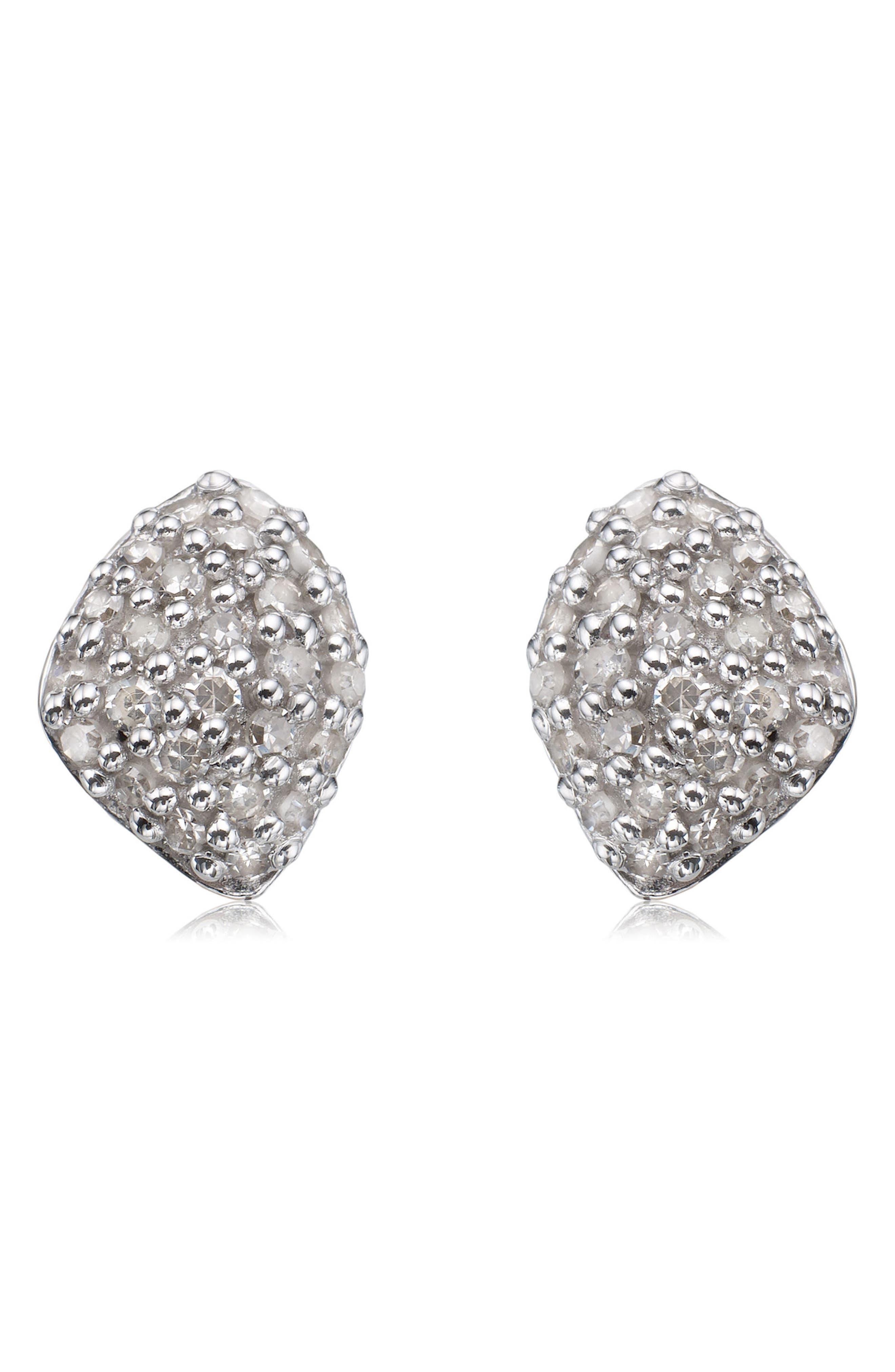 MONICA VINADER, Nura Mini Diamond Stud Earrings, Main thumbnail 1, color, ROSE GOLD/ DIAMOND