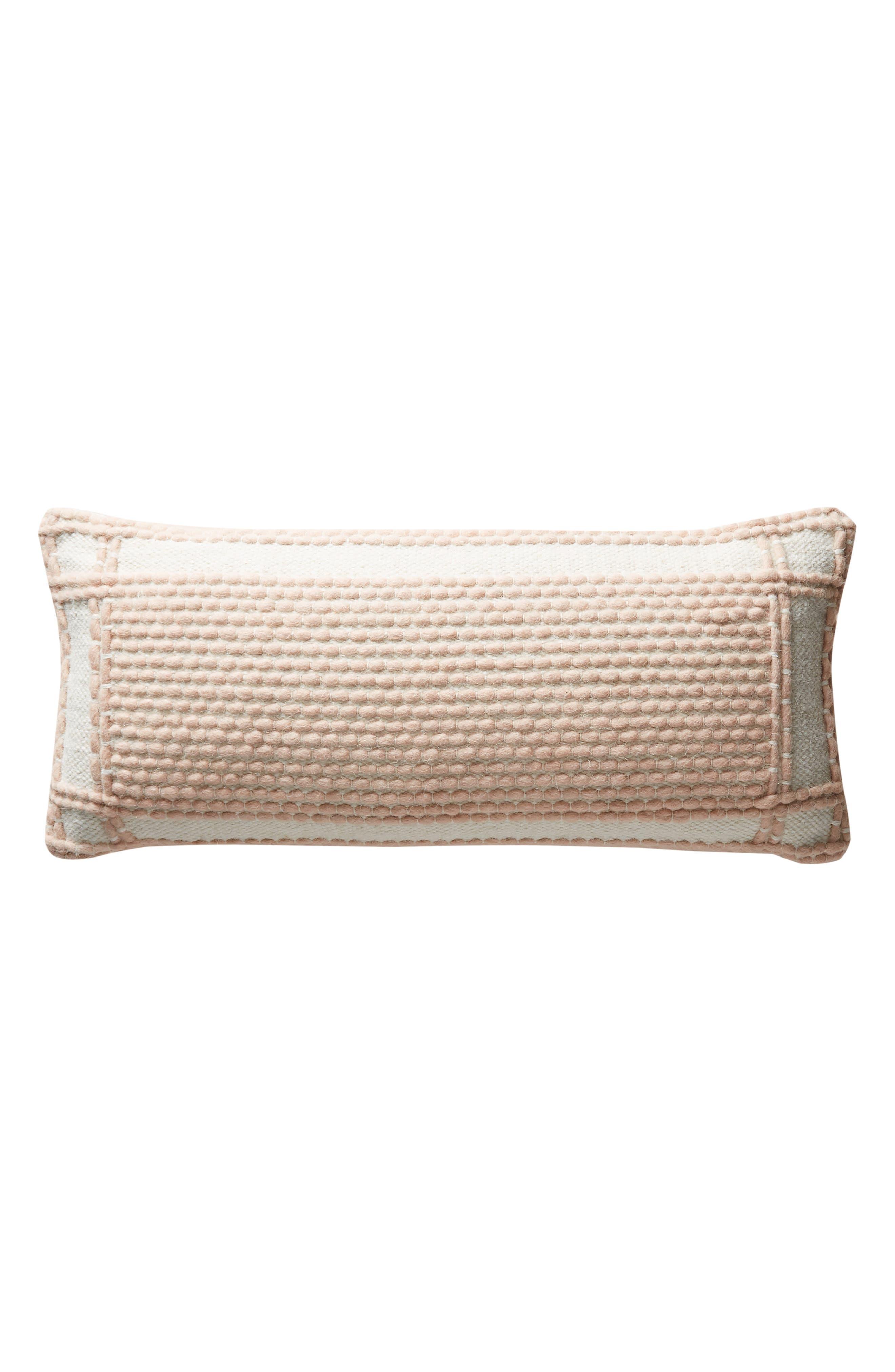 ANTHROPOLOGIE, Evie Bauble Accent Pillow, Alternate thumbnail 5, color, BLUSH