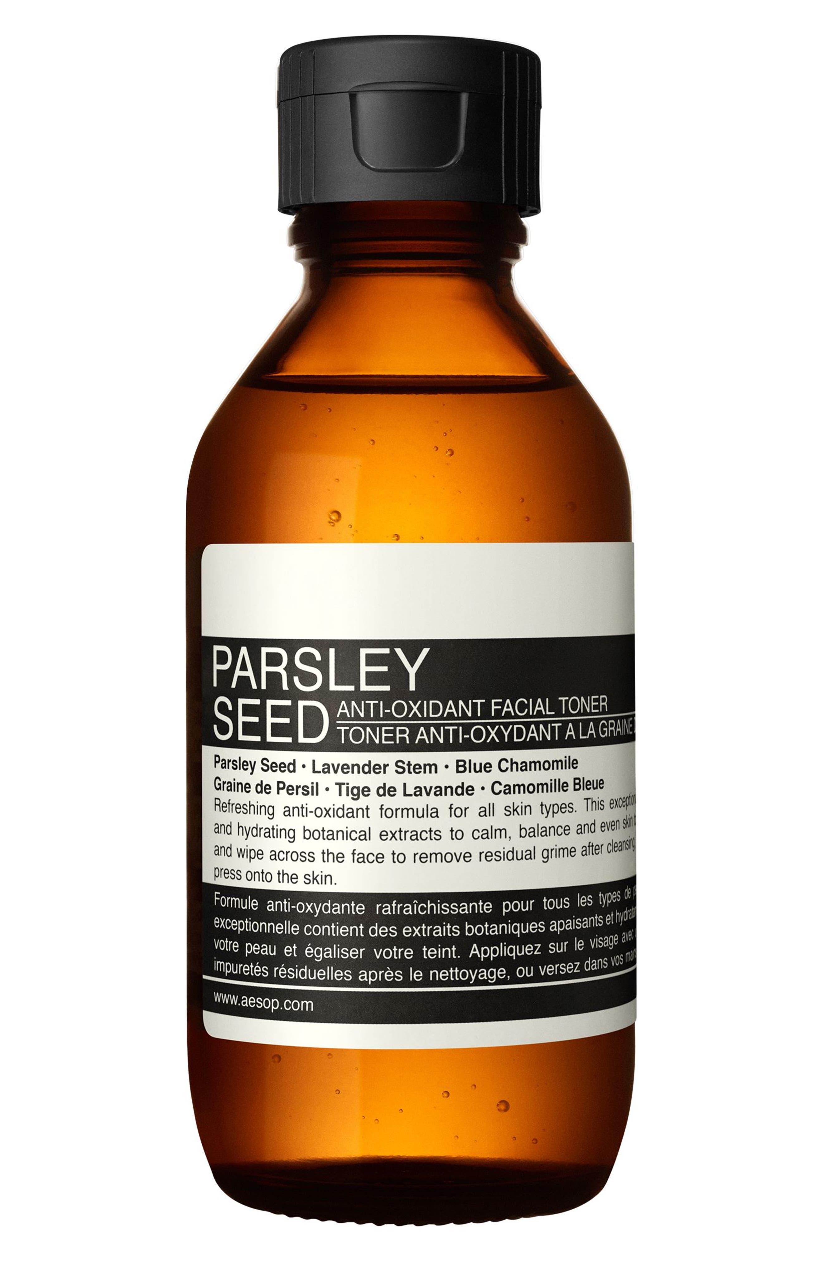AESOP, Parsley Seed Anti-Oxidant Facial Toner, Main thumbnail 1, color, NONE