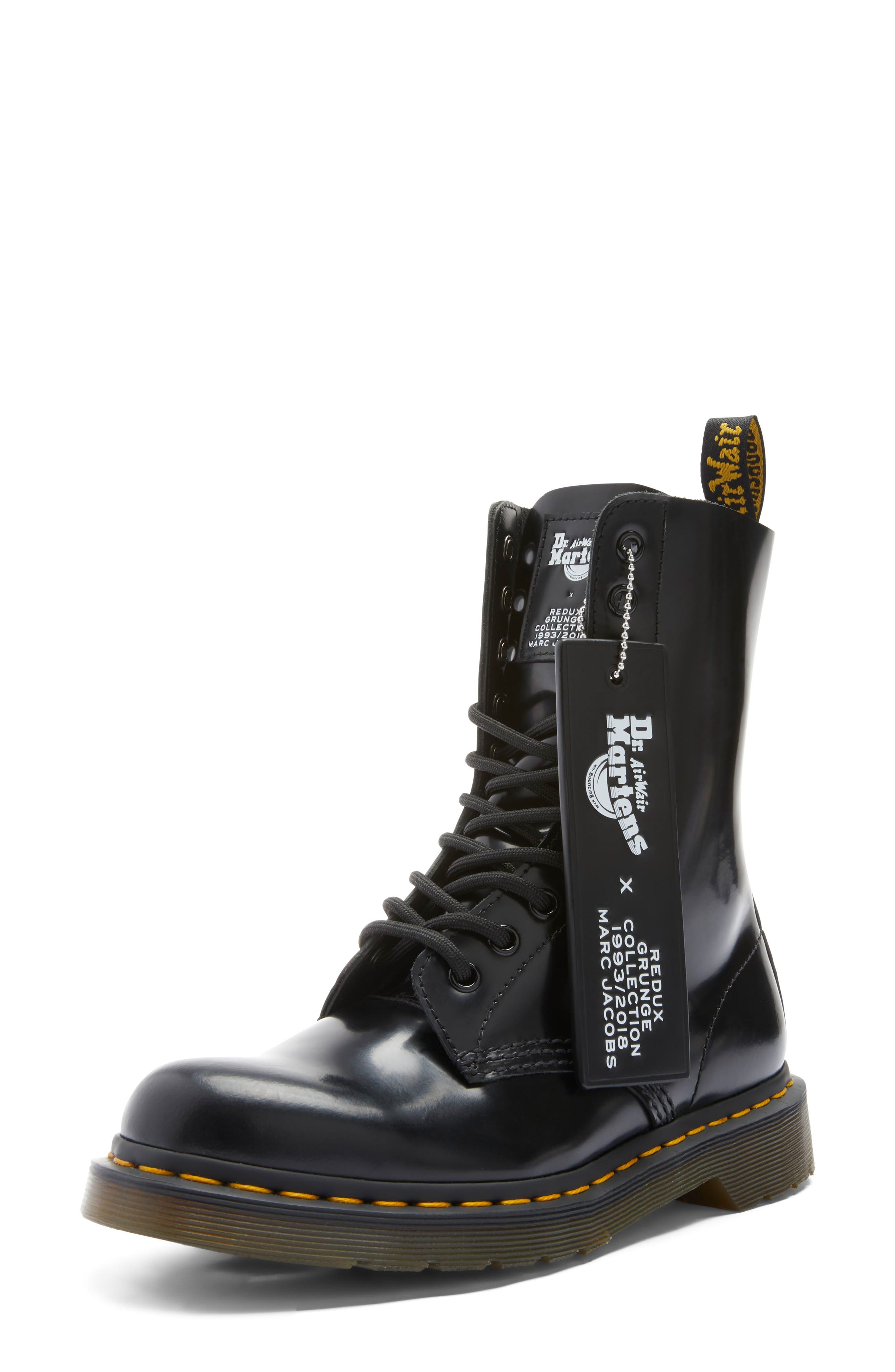 MARC JACOBS, Dr. Martens x MARC JACOBS Boot, Alternate thumbnail 7, color, BLACK