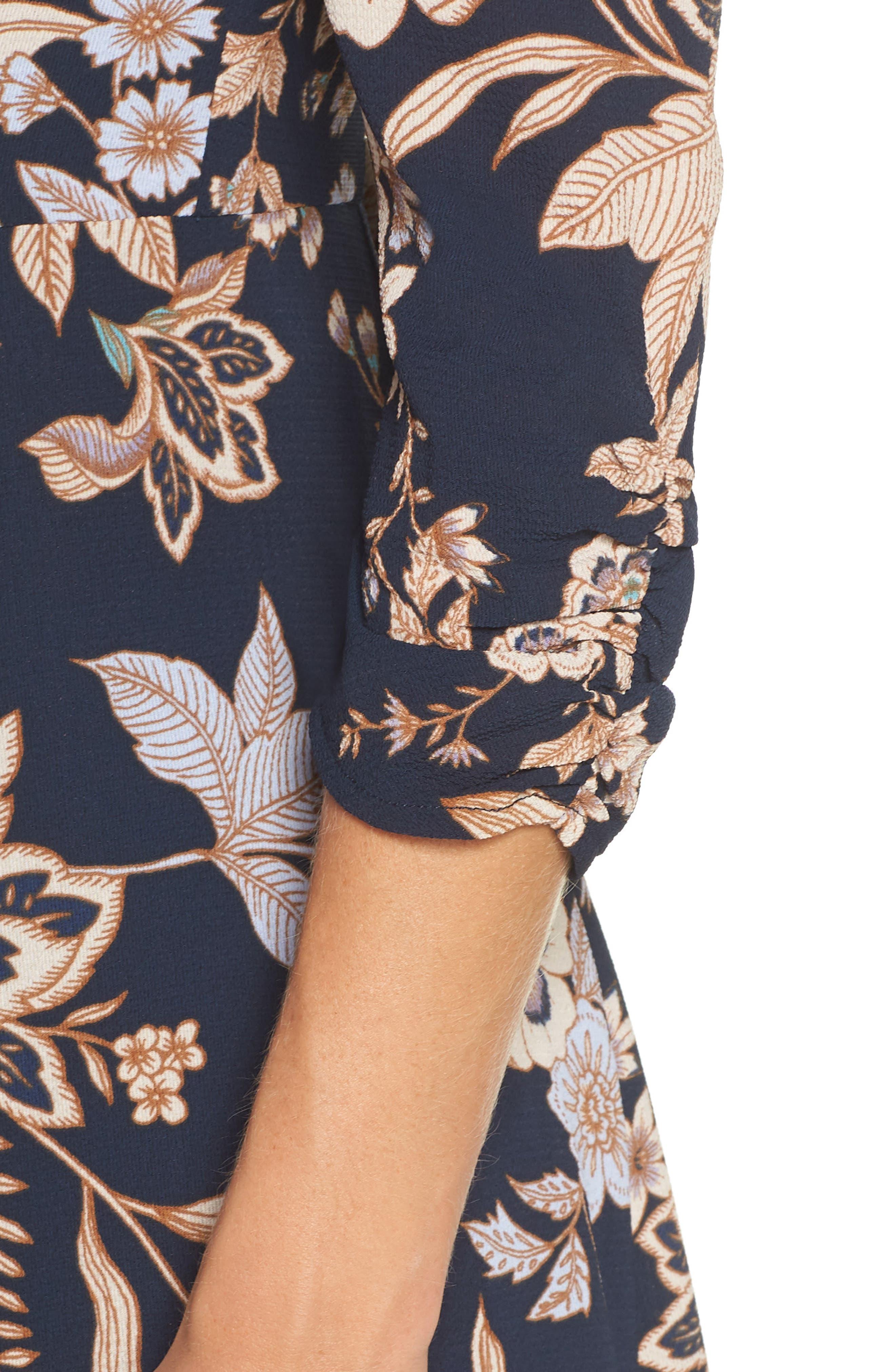 ELIZA J, Floral Midi Dress, Alternate thumbnail 5, color, 410