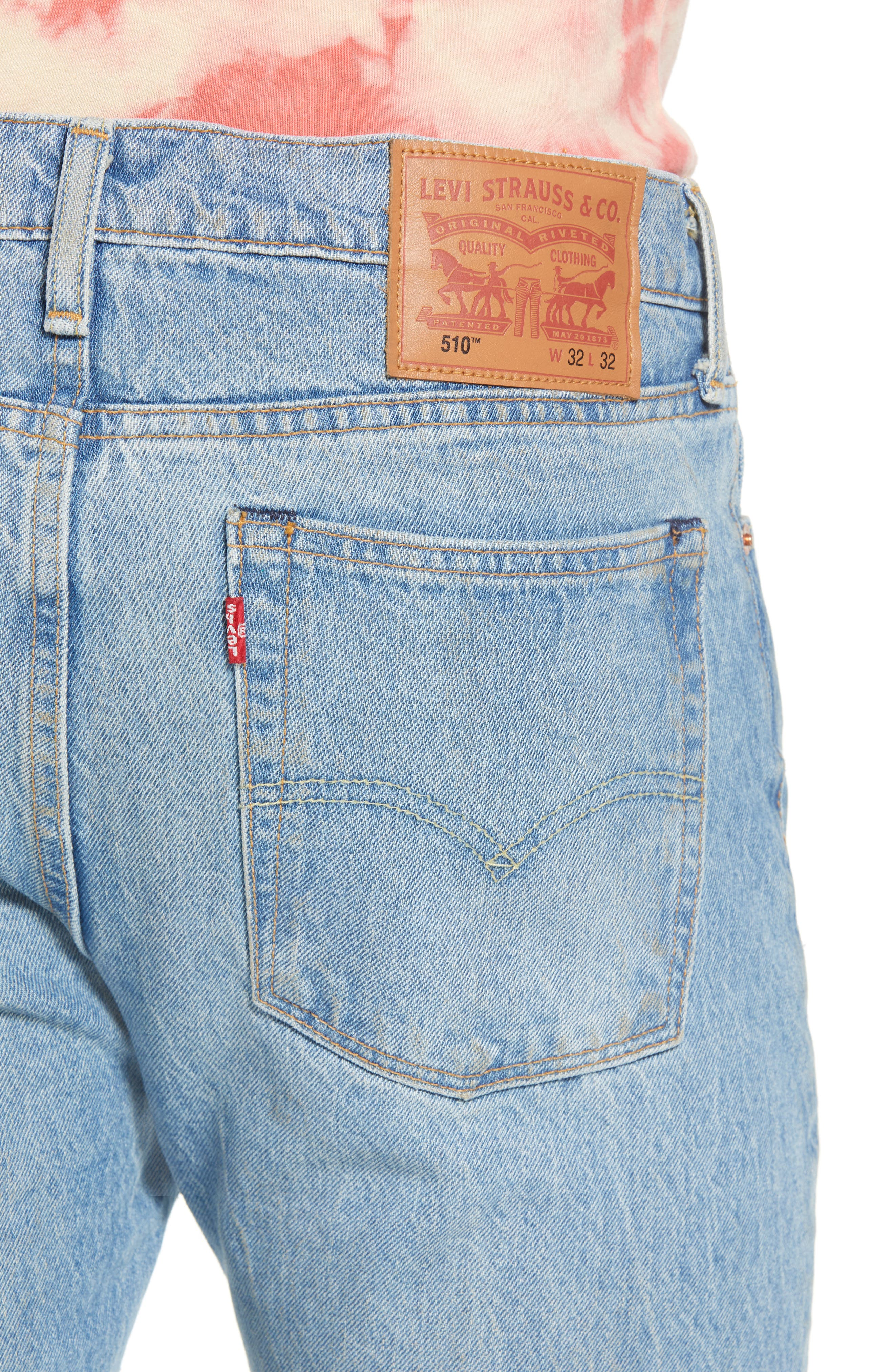 LEVI'S<SUP>®</SUP>, 510<sup>™</sup> Skinny Fit Jeans, Alternate thumbnail 5, color, MONKEY