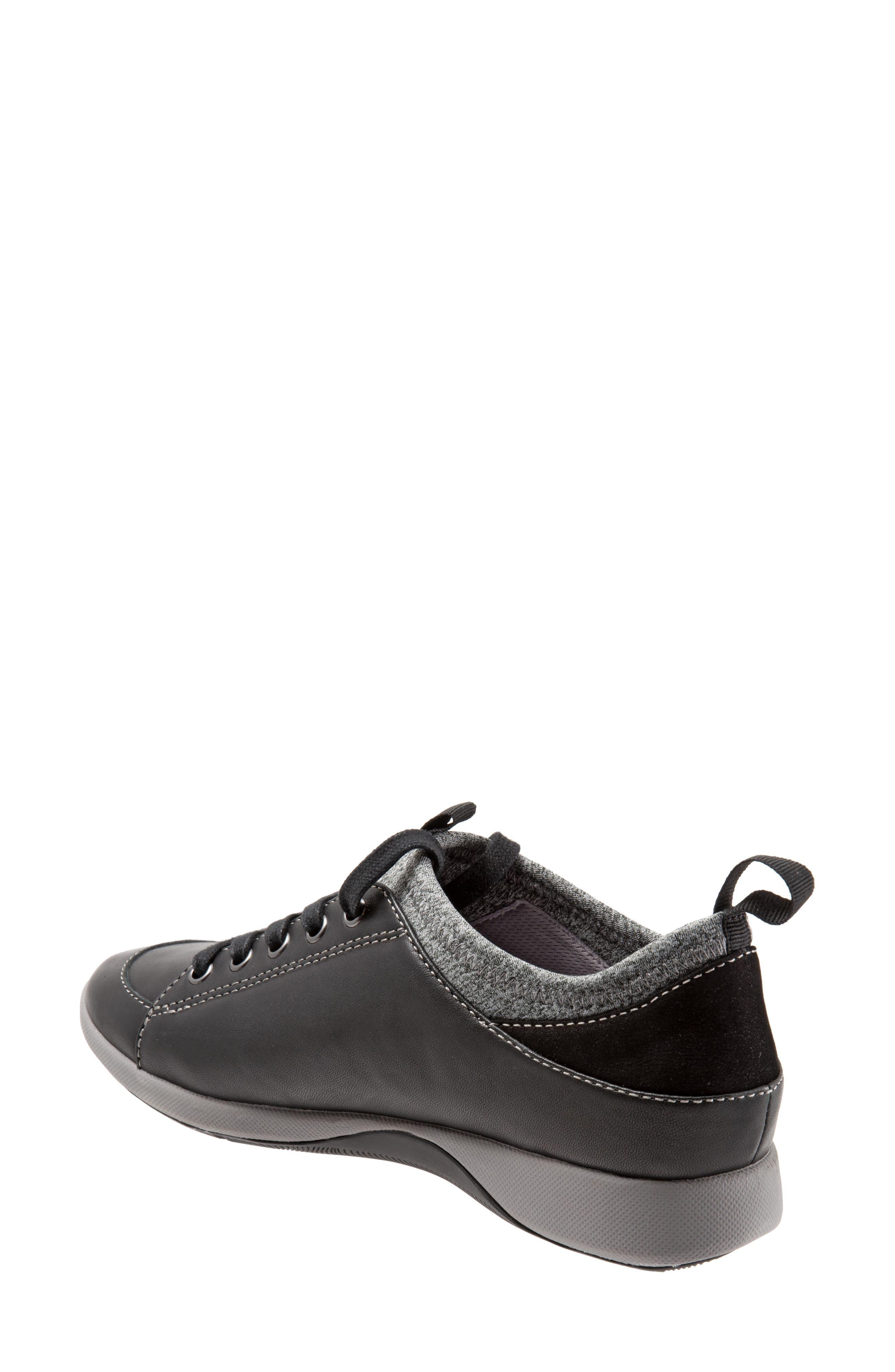 SOFTWALK<SUP>®</SUP>, SAVA Haven Sneaker, Alternate thumbnail 2, color, BLACK/ GREY LEATHER