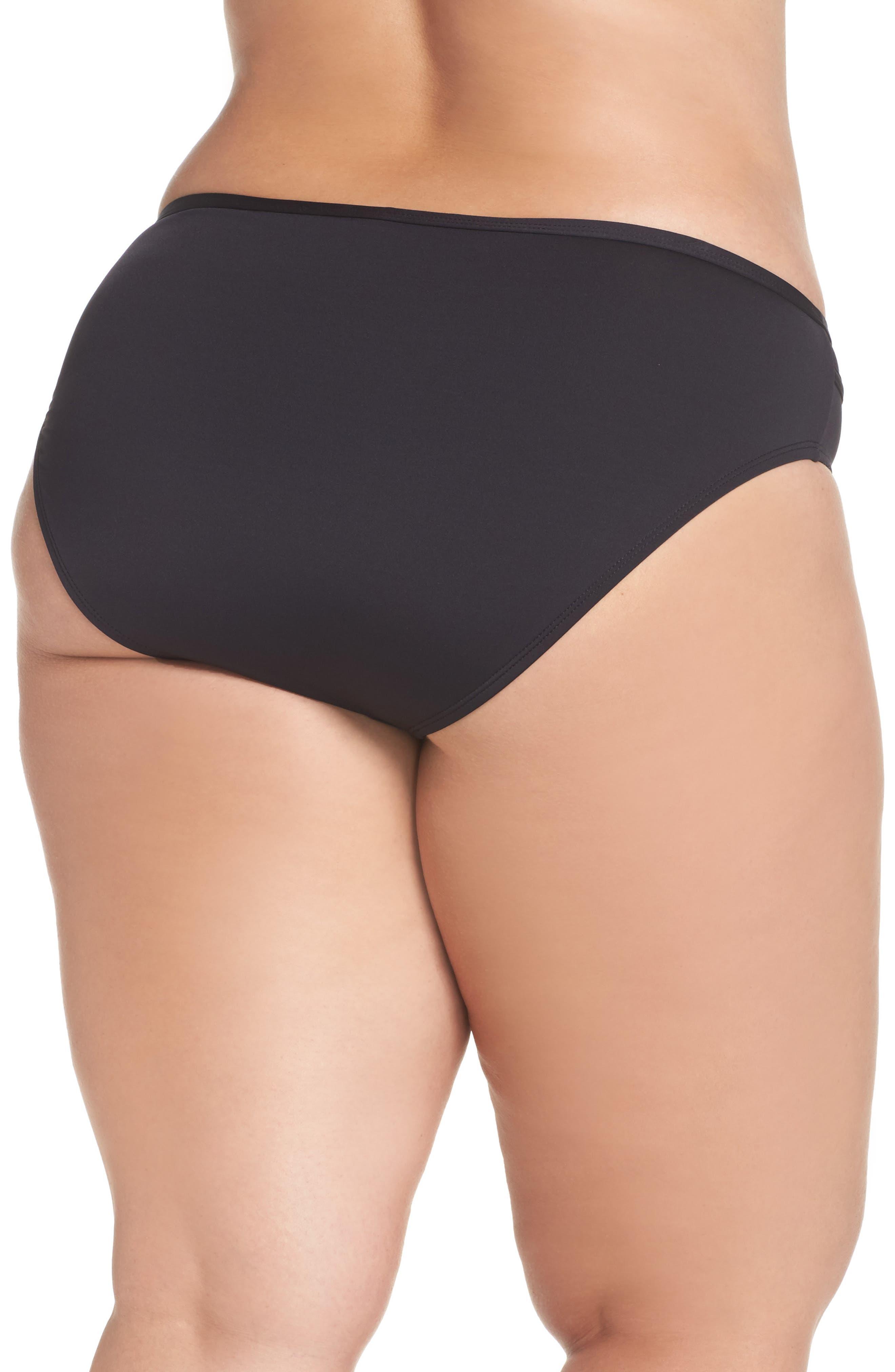 TOMMY BAHAMA, Mesh Bikini Bottoms, Alternate thumbnail 2, color, BLACK