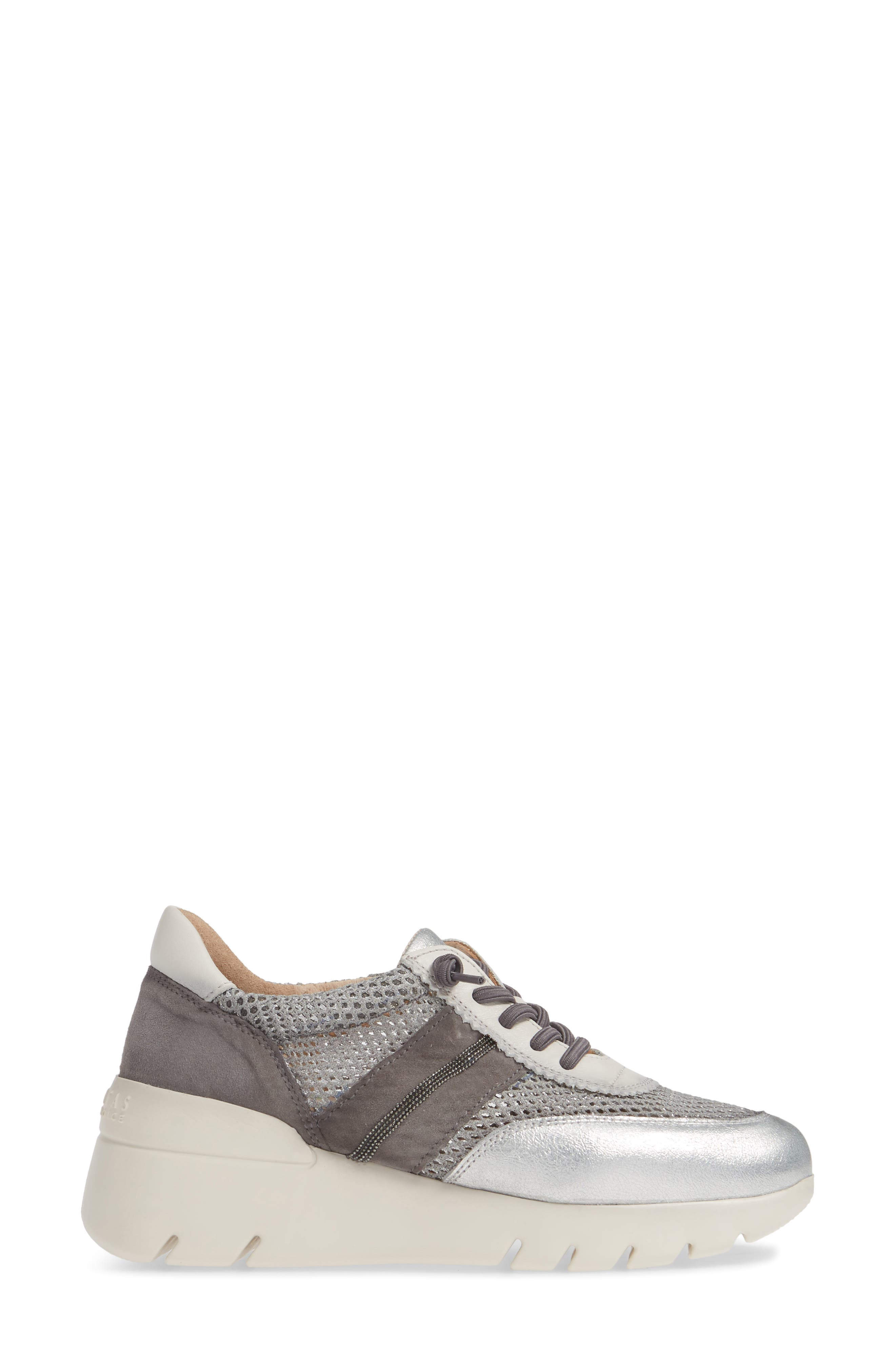 HISPANITAS, Ruth Sneaker, Alternate thumbnail 3, color, SILVER/ GREY SUEDE