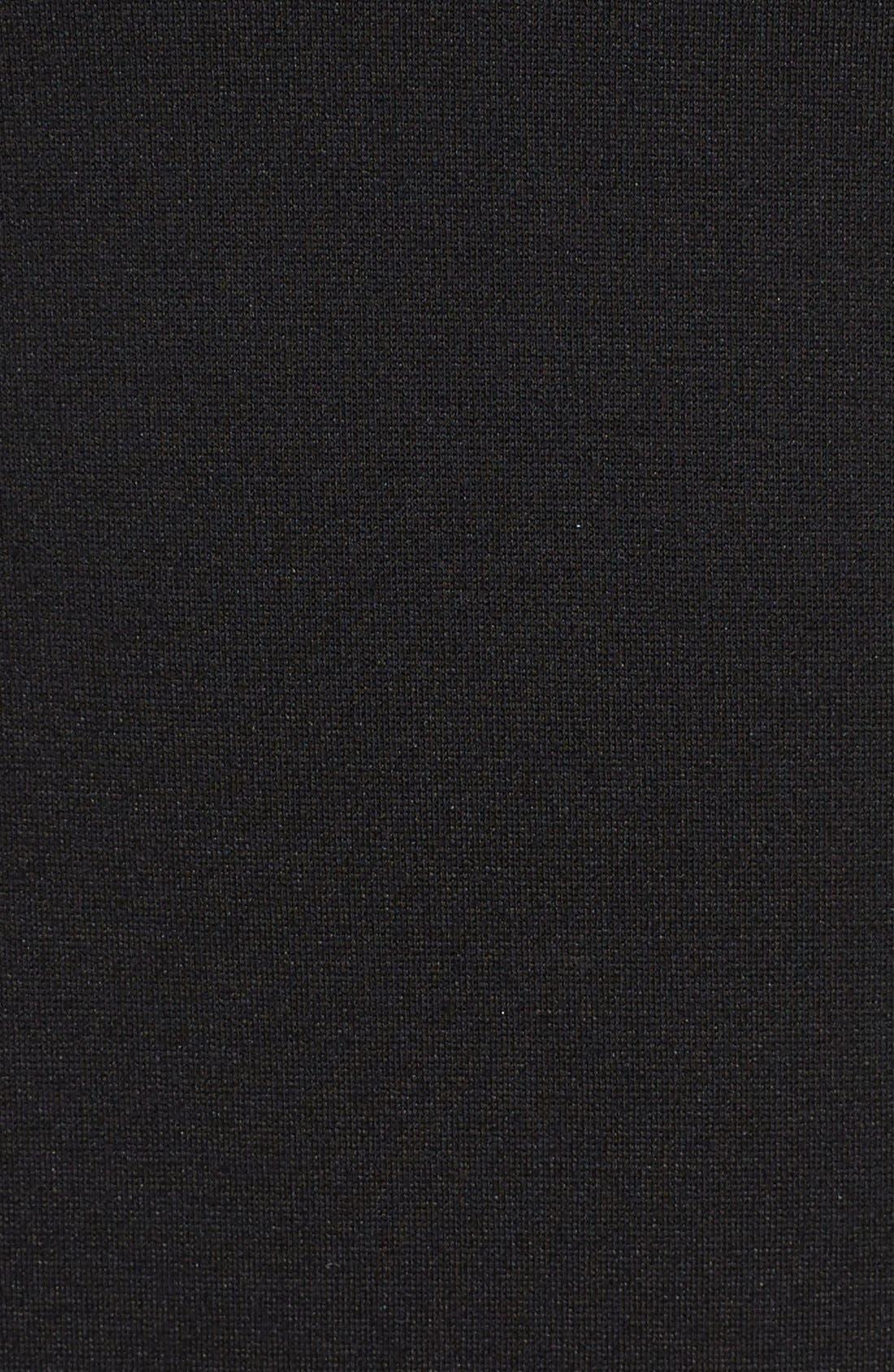 HALOGEN<SUP>®</SUP>, Seamed V-Neck Ponte Sheath Dress, Alternate thumbnail 2, color, 001