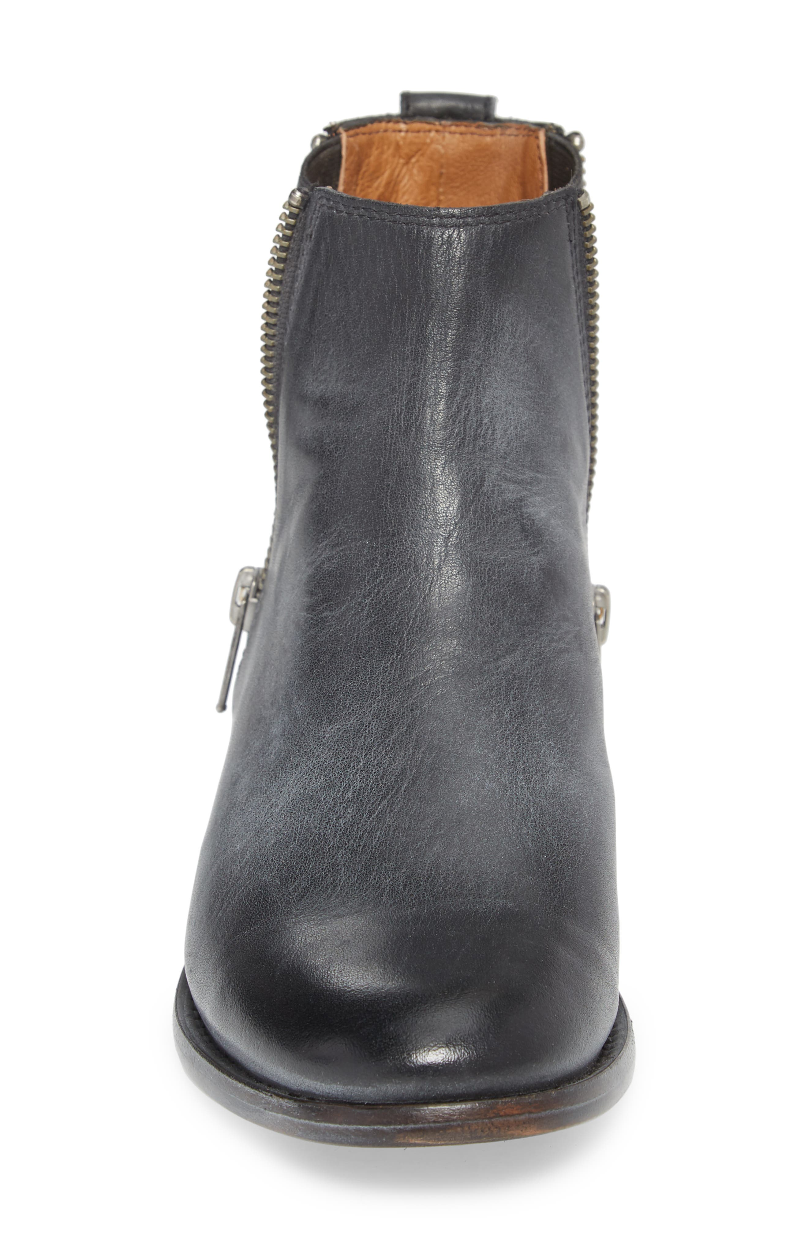 FRYE, Carly Chelsea Boot, Alternate thumbnail 4, color, BLACK ANTIQUED LEATHER