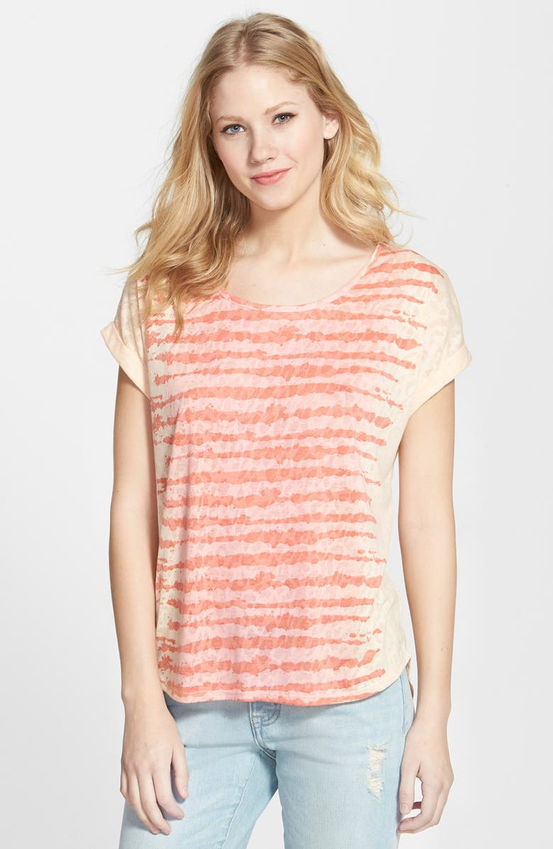 079c67513 TWO BY VINCE CAMUTO 'Camo Leopard' Burnout Tee, Main, color, ...