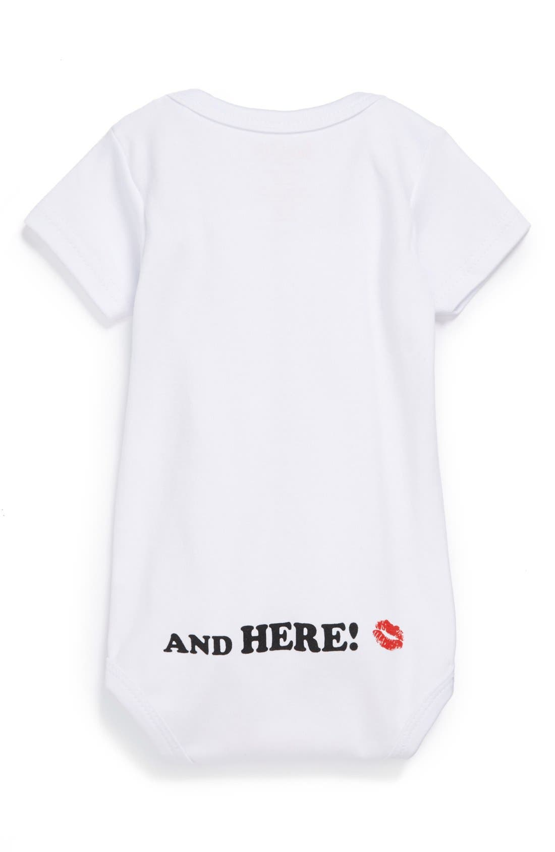 SARA KETY BABY & KIDS, 'Grandma Was Here' Bodysuit, Alternate thumbnail 2, color, WHITE