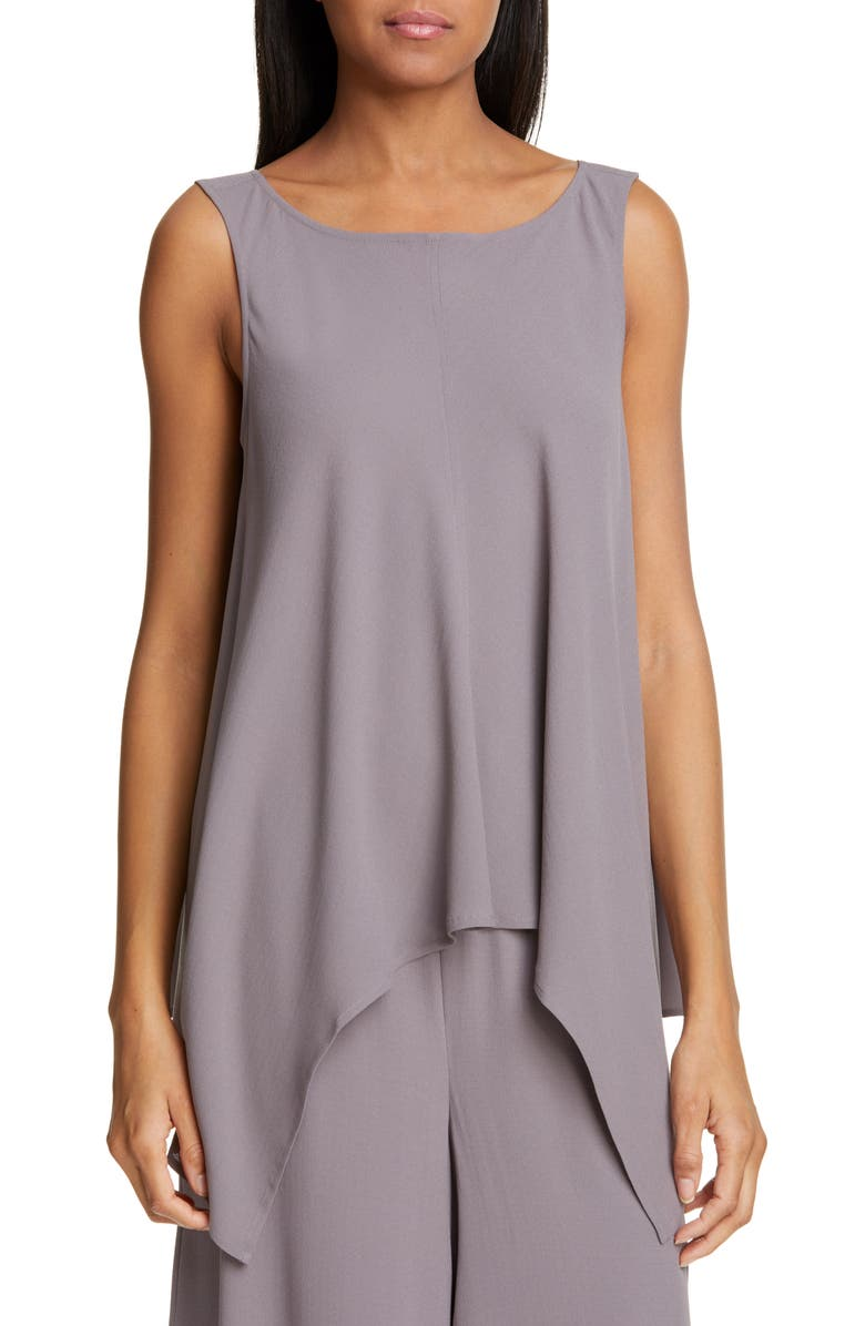Eileen Fisher Tops ASYMMETRICAL DRAPED SILK TOP