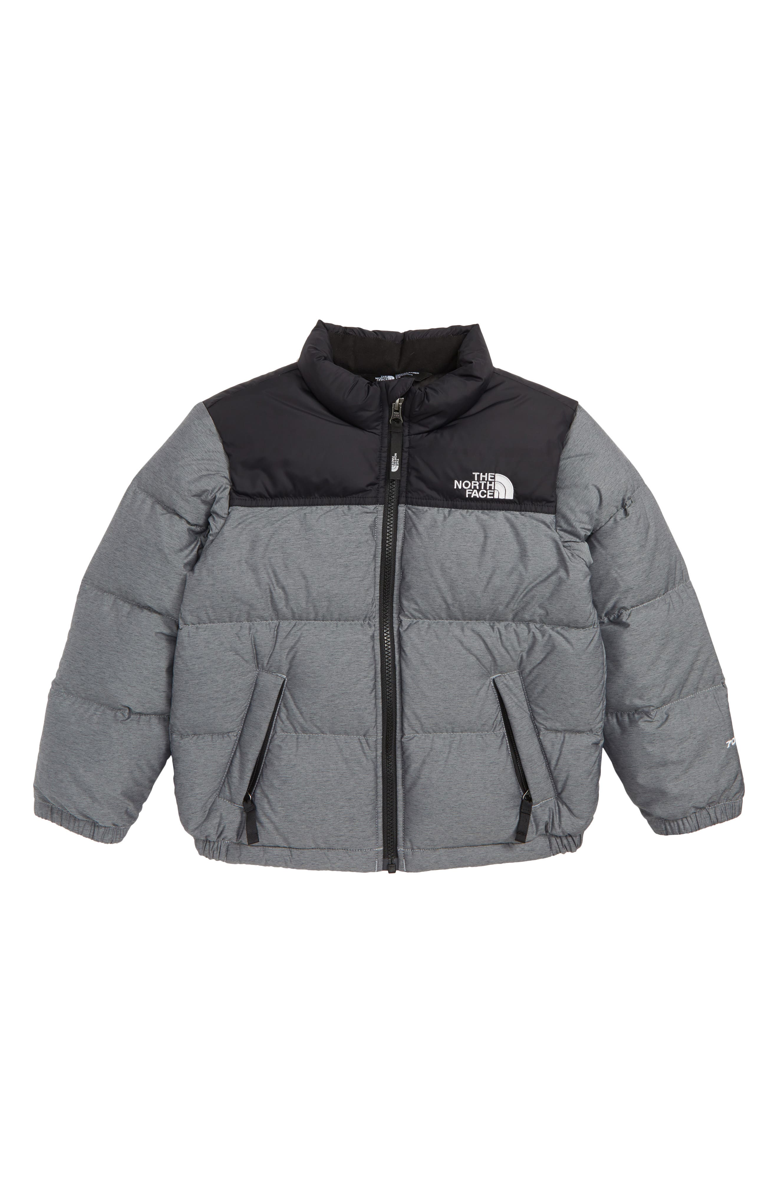 THE NORTH FACE Nuptse 700 Fill Power Down Jacket, Main, color, HEATHER GREY