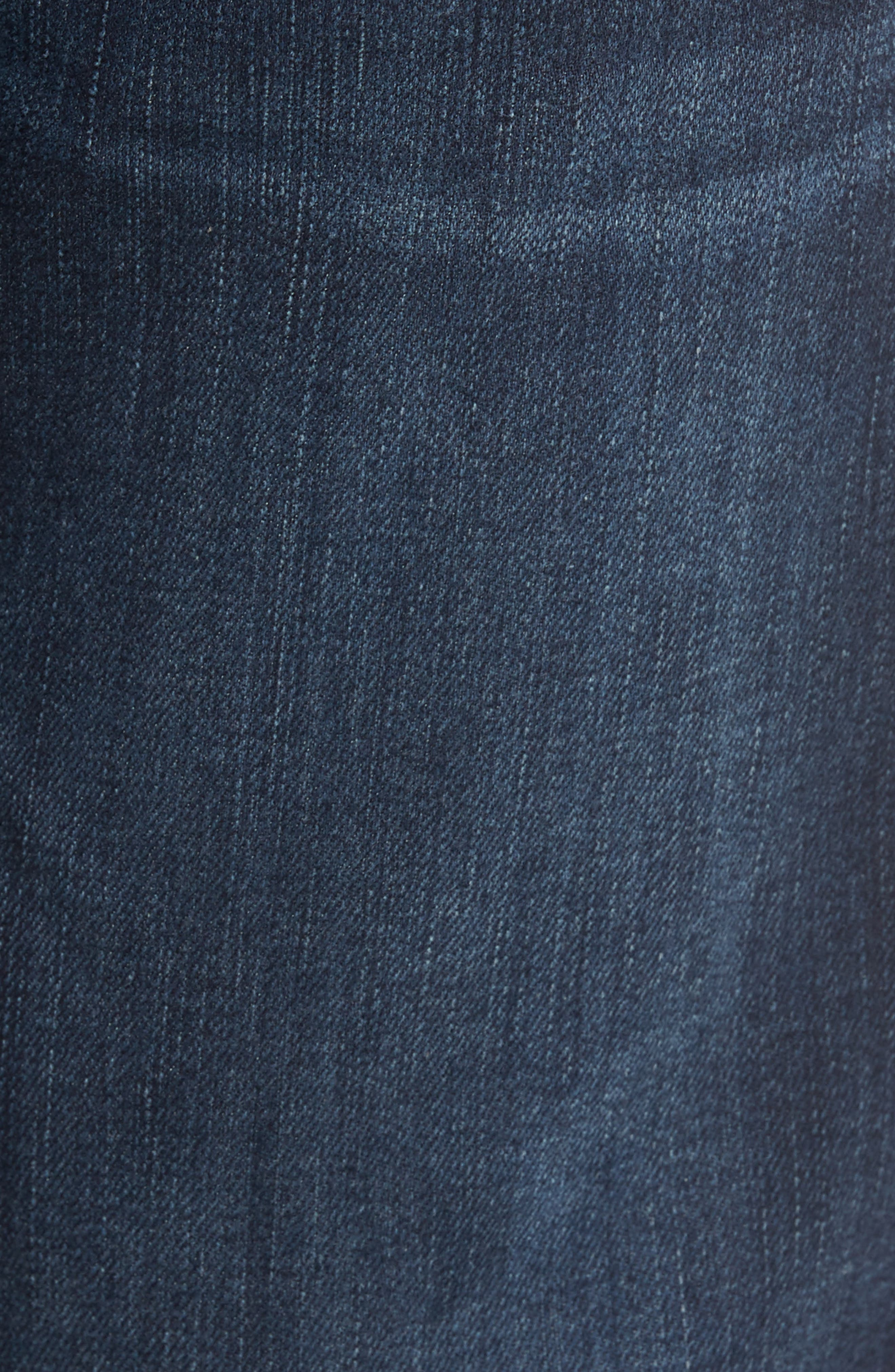 7 FOR ALL MANKIND<SUP>®</SUP>, Luxe Performance - Carsen Straight Leg Jeans, Alternate thumbnail 6, color, DARK CURRENT
