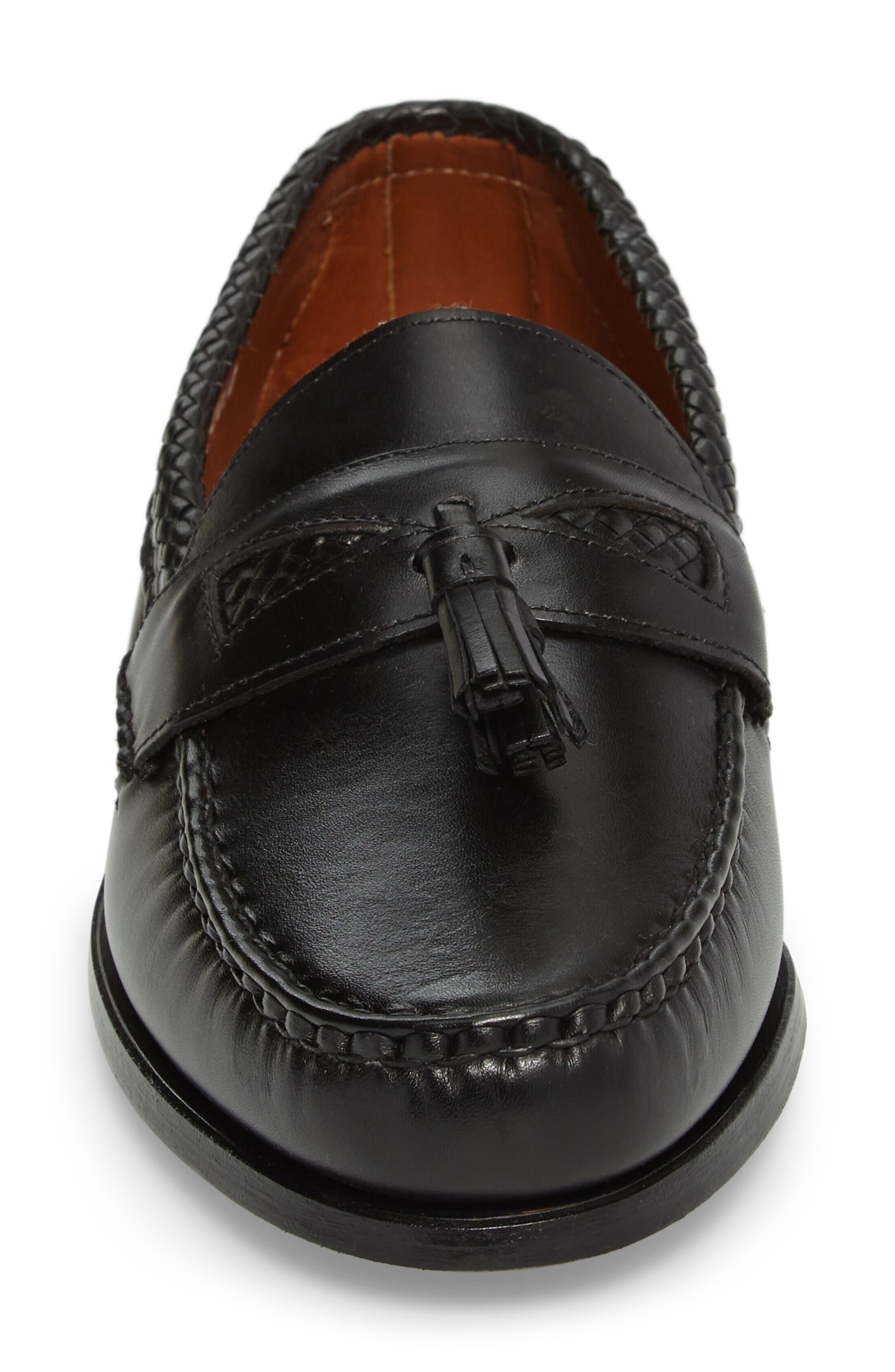 ALLEN EDMONDS, 'Maxfield' Loafer, Alternate thumbnail 4, color, BLACK