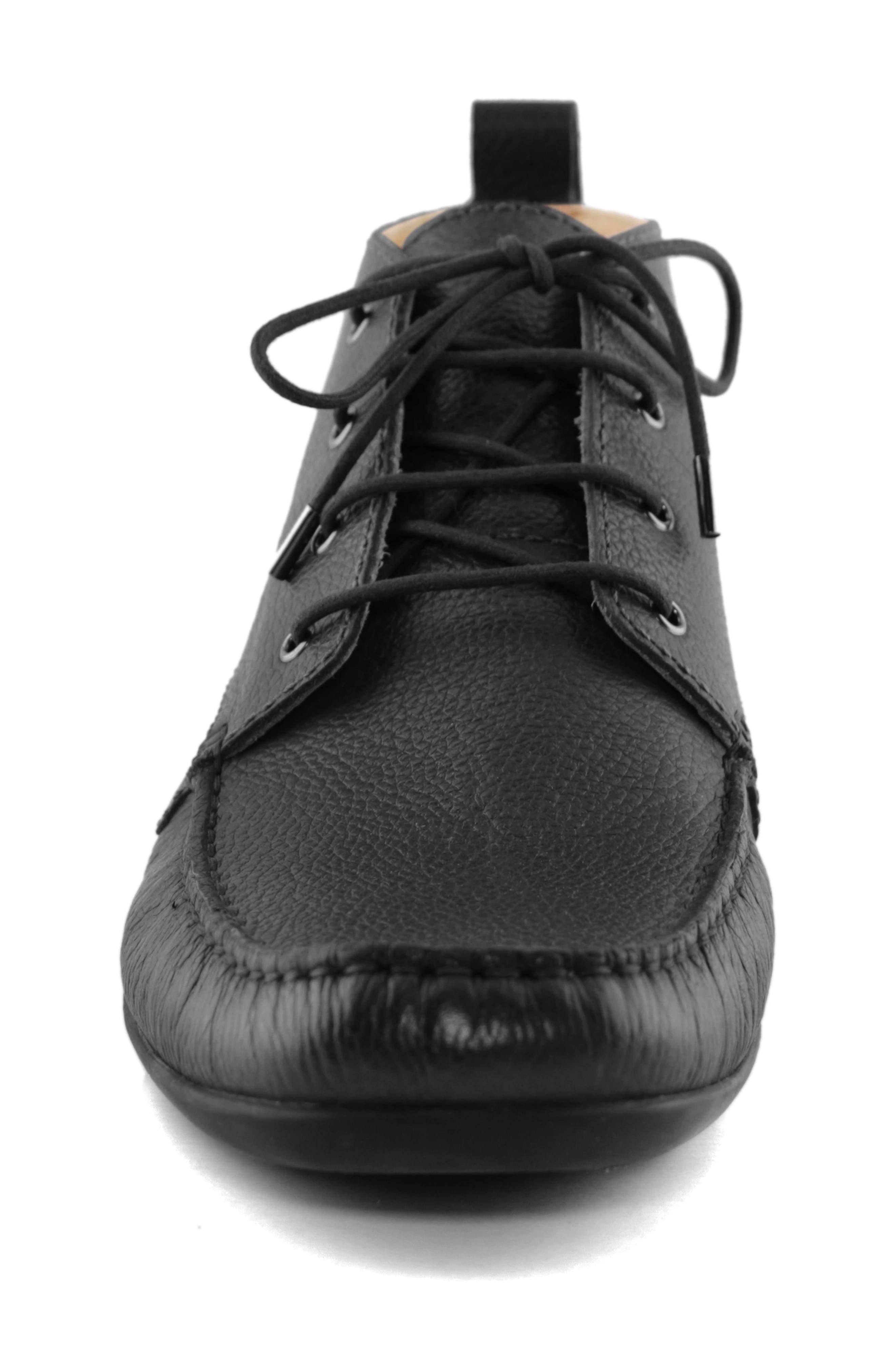 MARC JOSEPH NEW YORK, Soho Boot 2 Chukka Boot, Alternate thumbnail 4, color, BLACK LEATHER