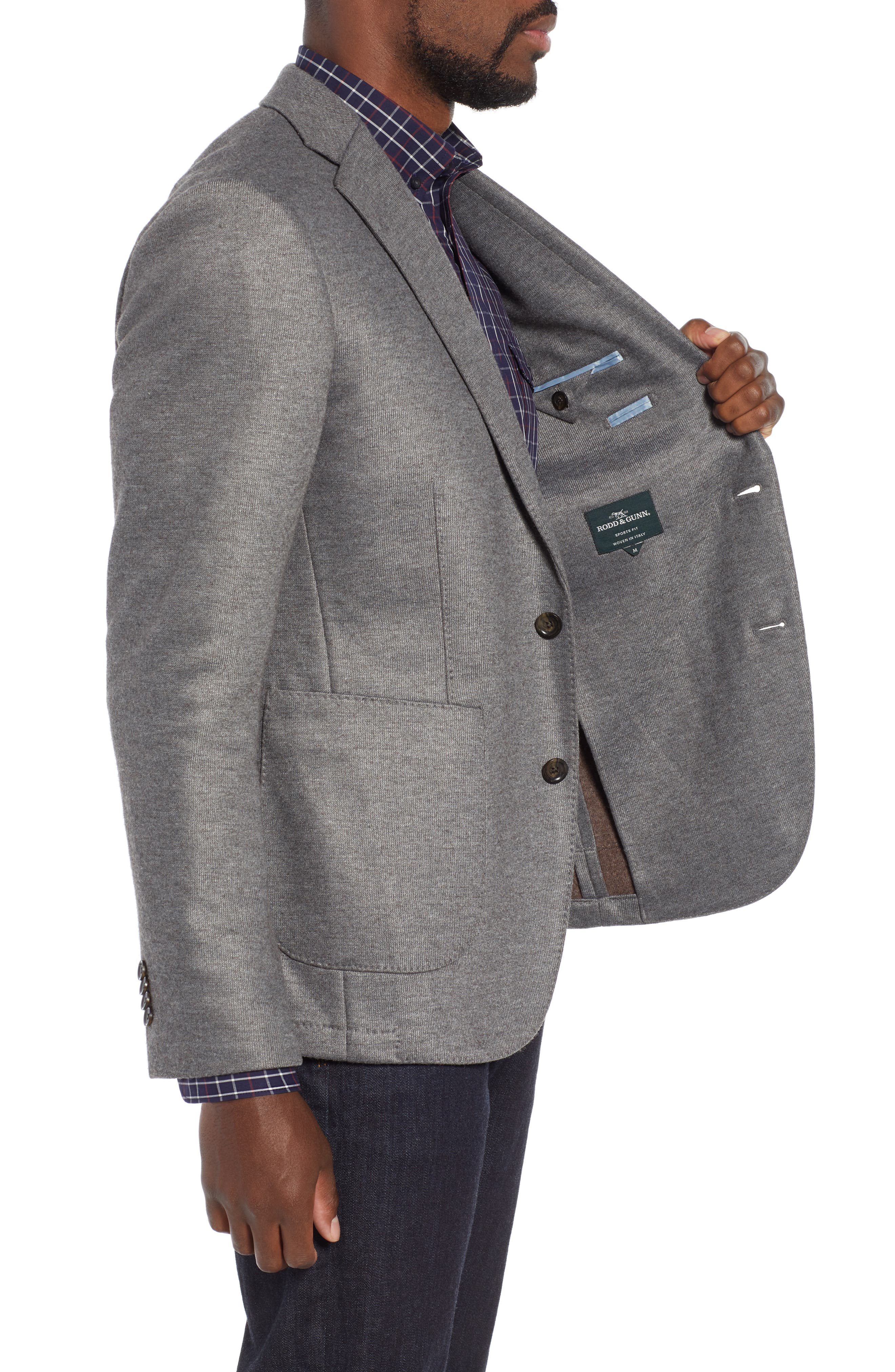 RODD & GUNN, Brooklynn Sport Coat, Alternate thumbnail 3, color, ASH
