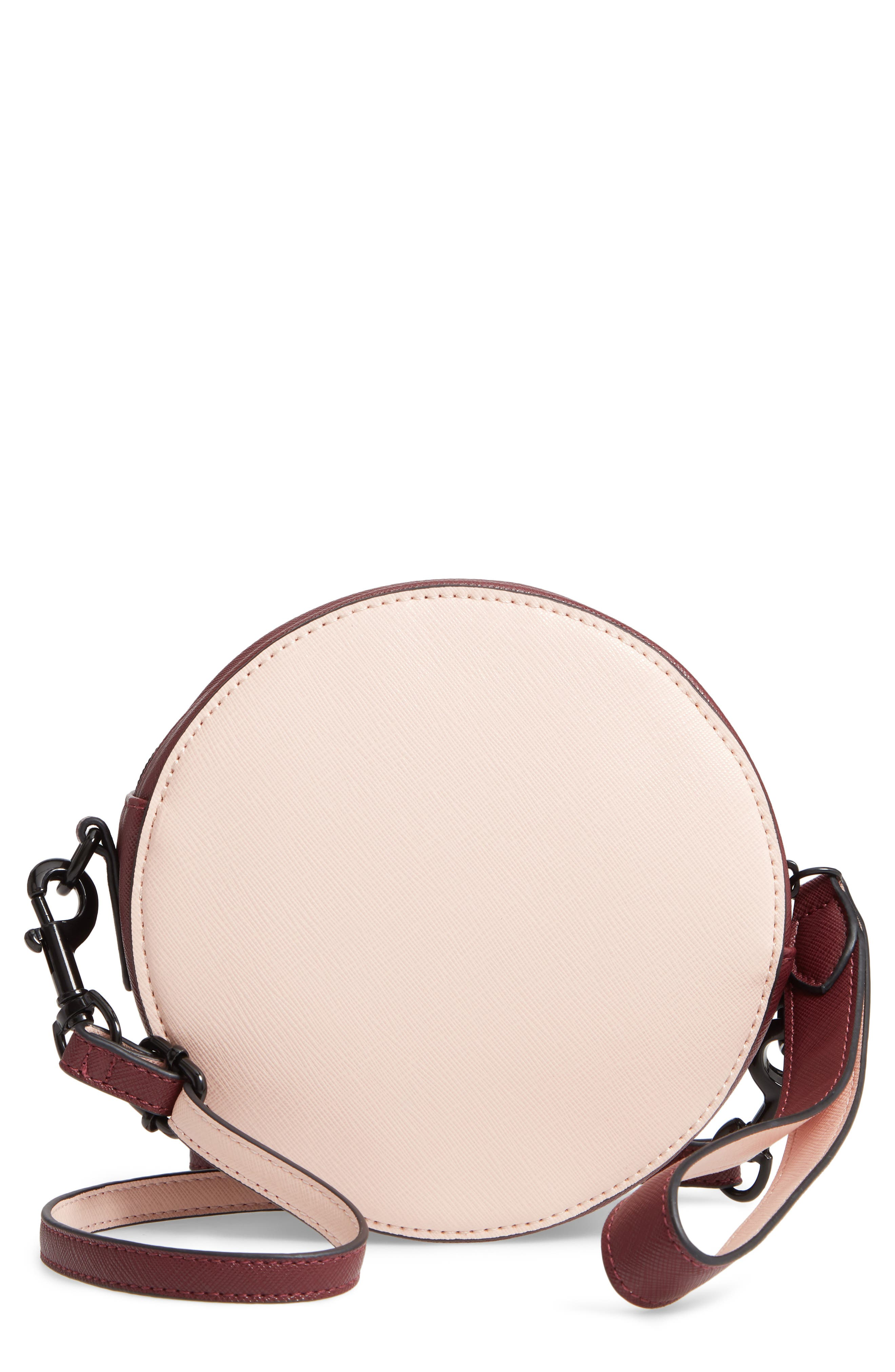 T-SHIRT & JEANS Faux Leather Colorblock Canteen Crossbody Bag, Main, color, 650