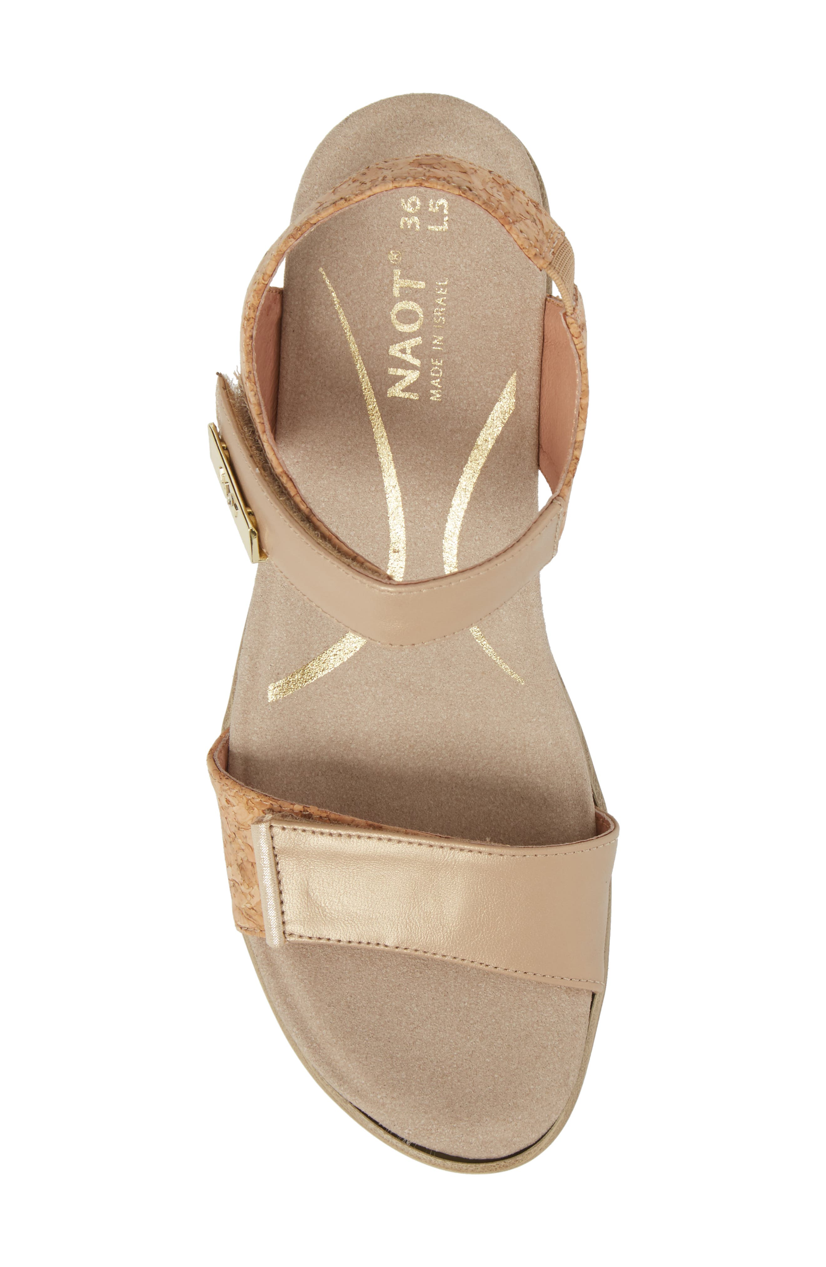 NAOT, 'Intact' Sandal, Alternate thumbnail 5, color, CHAMPAGNE LEATHER