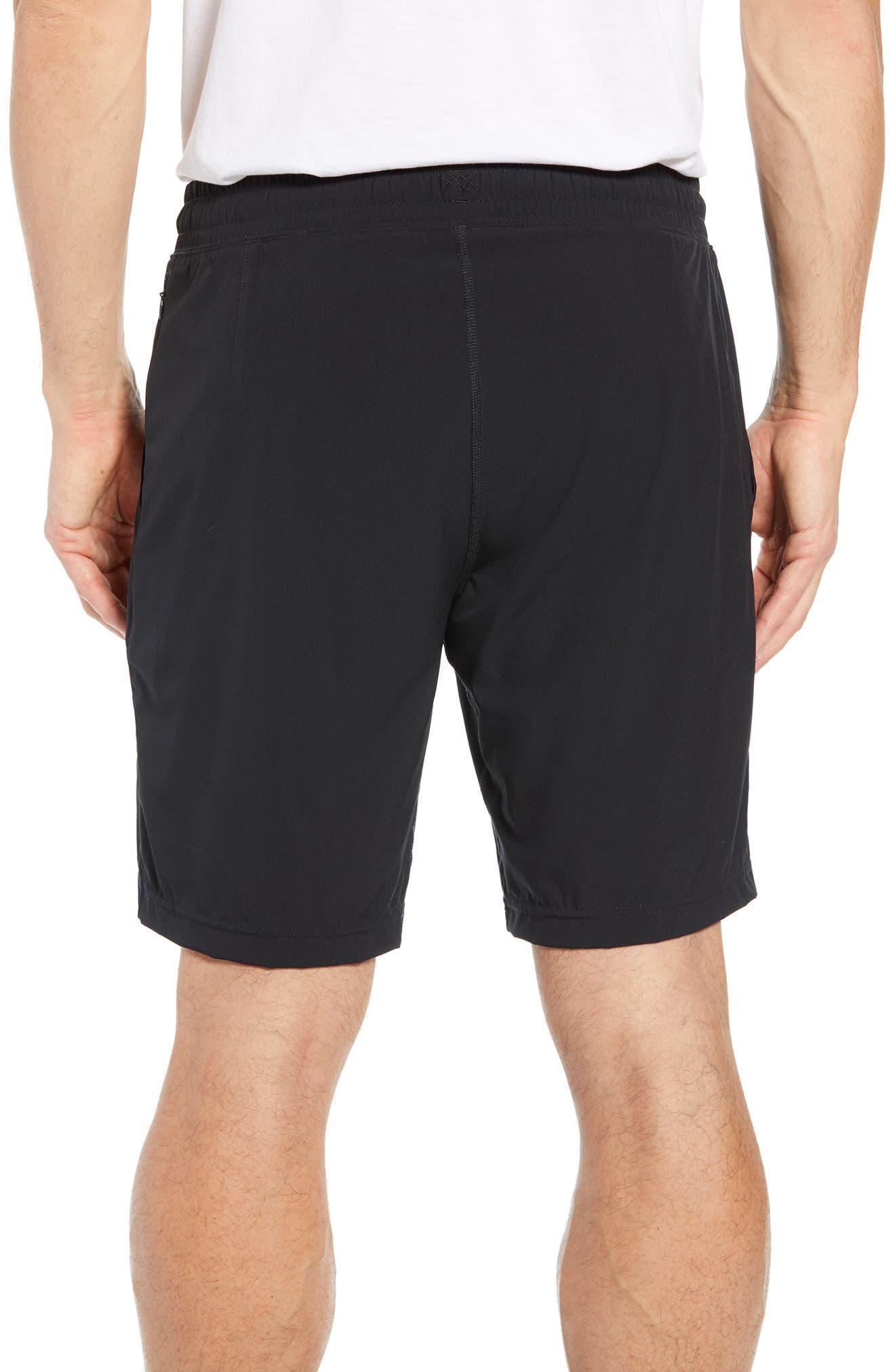 RHONE, Mako Lined Shorts, Alternate thumbnail 2, color, BLACK