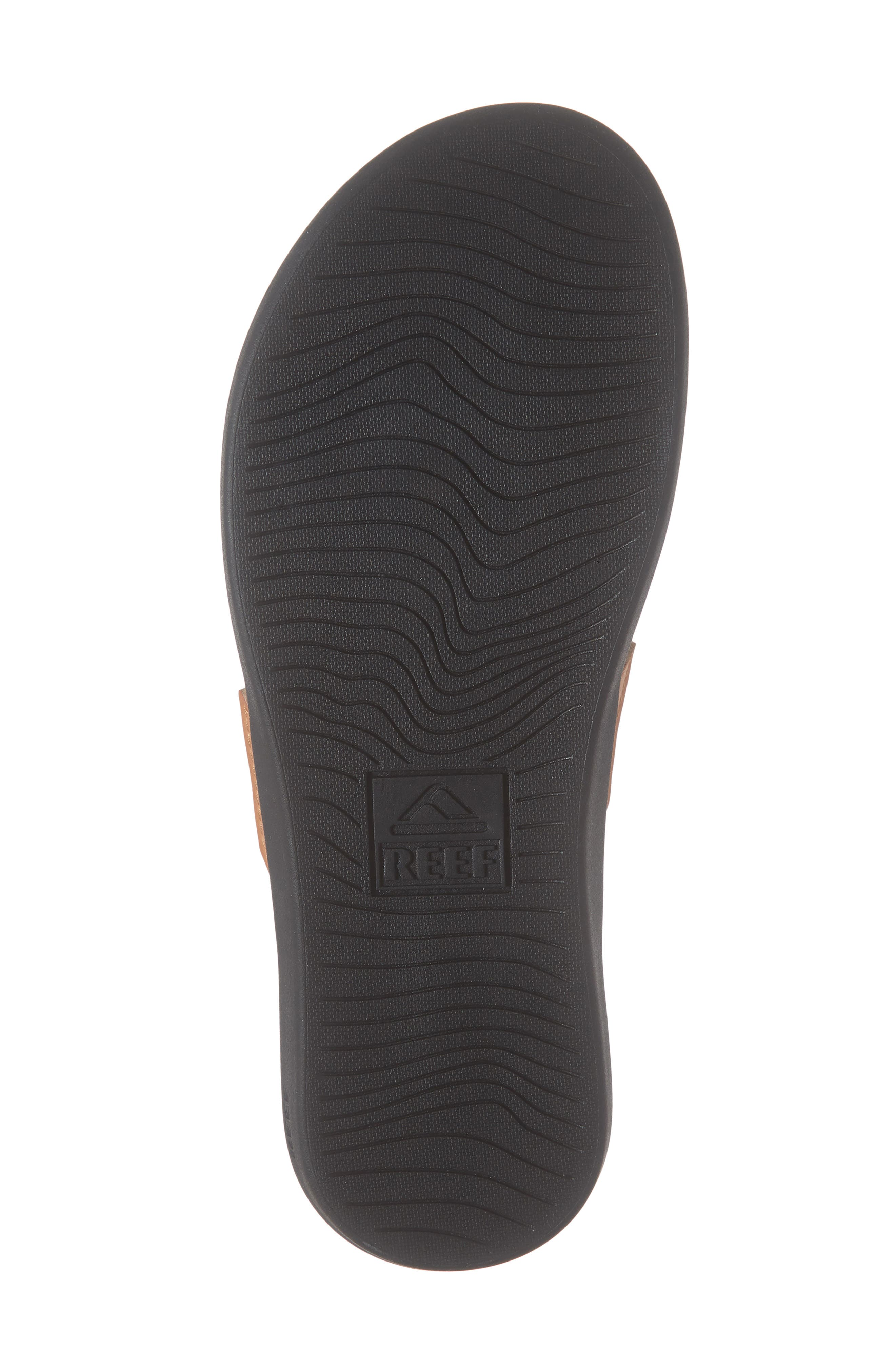REEF, Ortho-Bounce Woven Flip Flop, Alternate thumbnail 6, color, BLACK/ WHITE