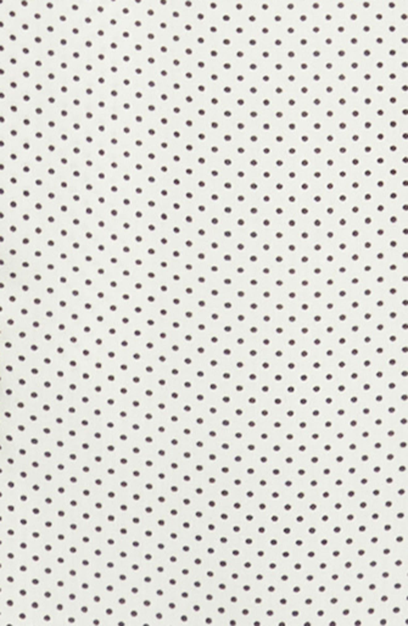 THE KOOPLES, Dot Print Sport Shirt, Alternate thumbnail 6, color, BEIGE-BLACK